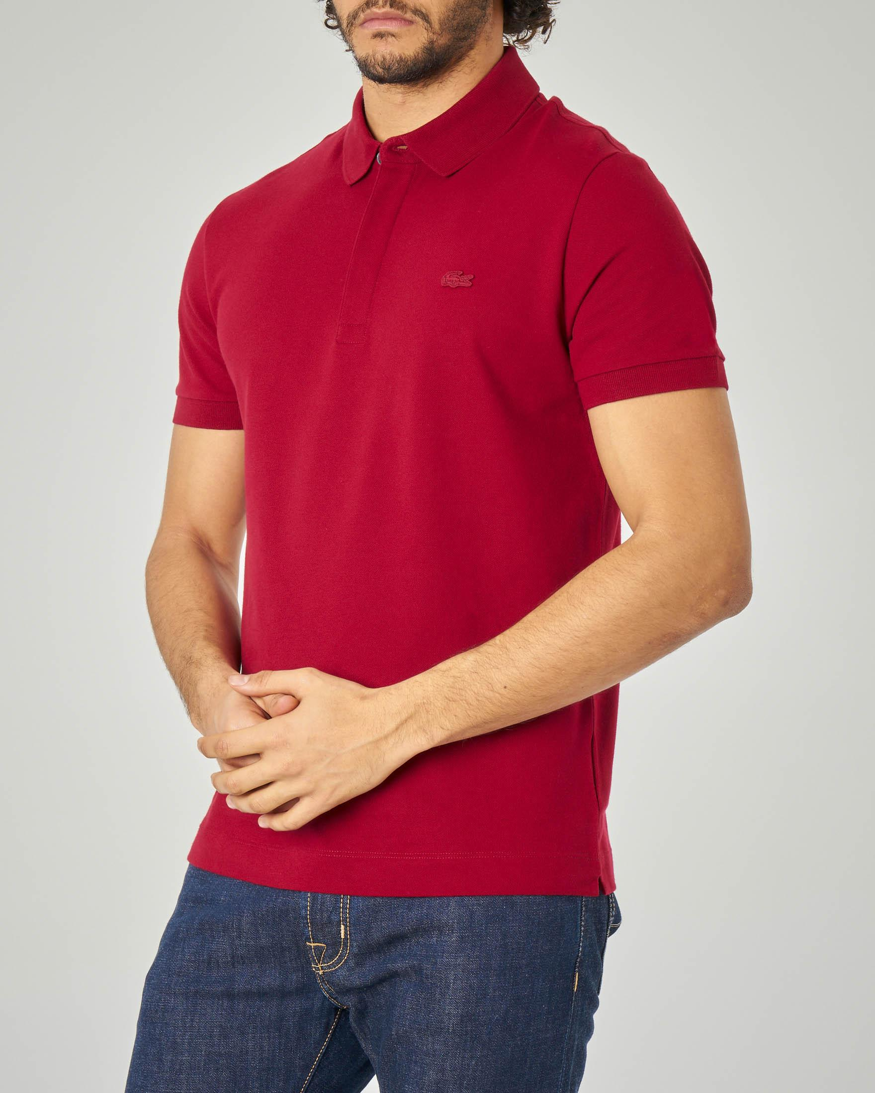 Polo Paris bordeaux con logo tono su tono