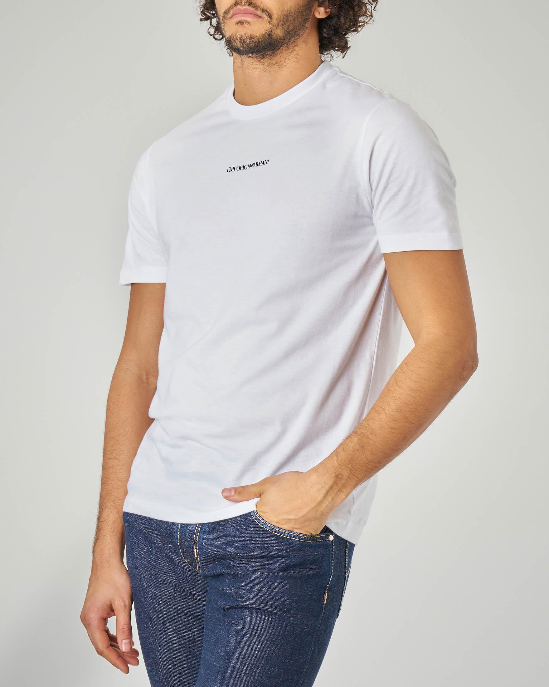 T-shirt bianca con piccolo logo stampato