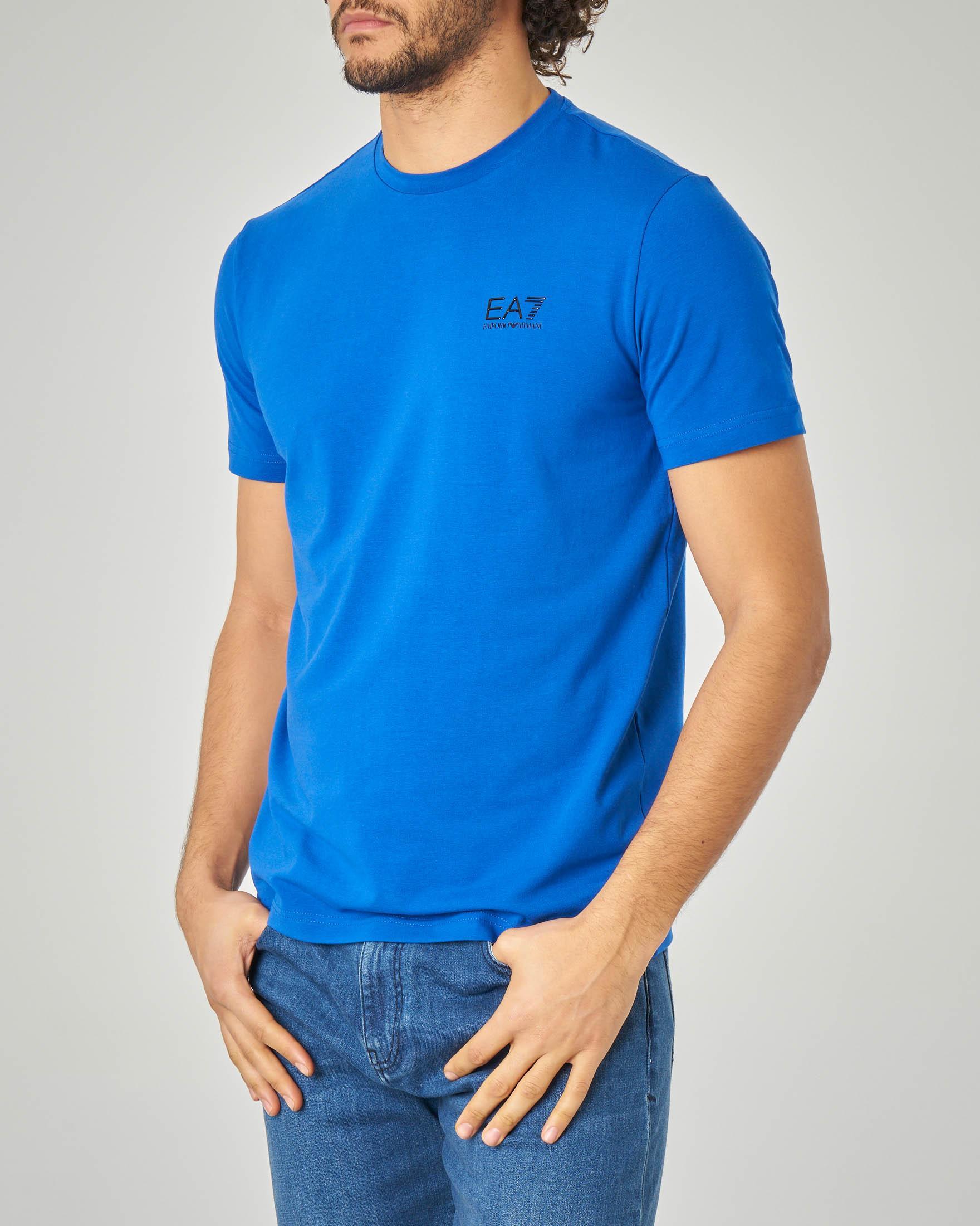 T-shirt blu royal in cotone stretch