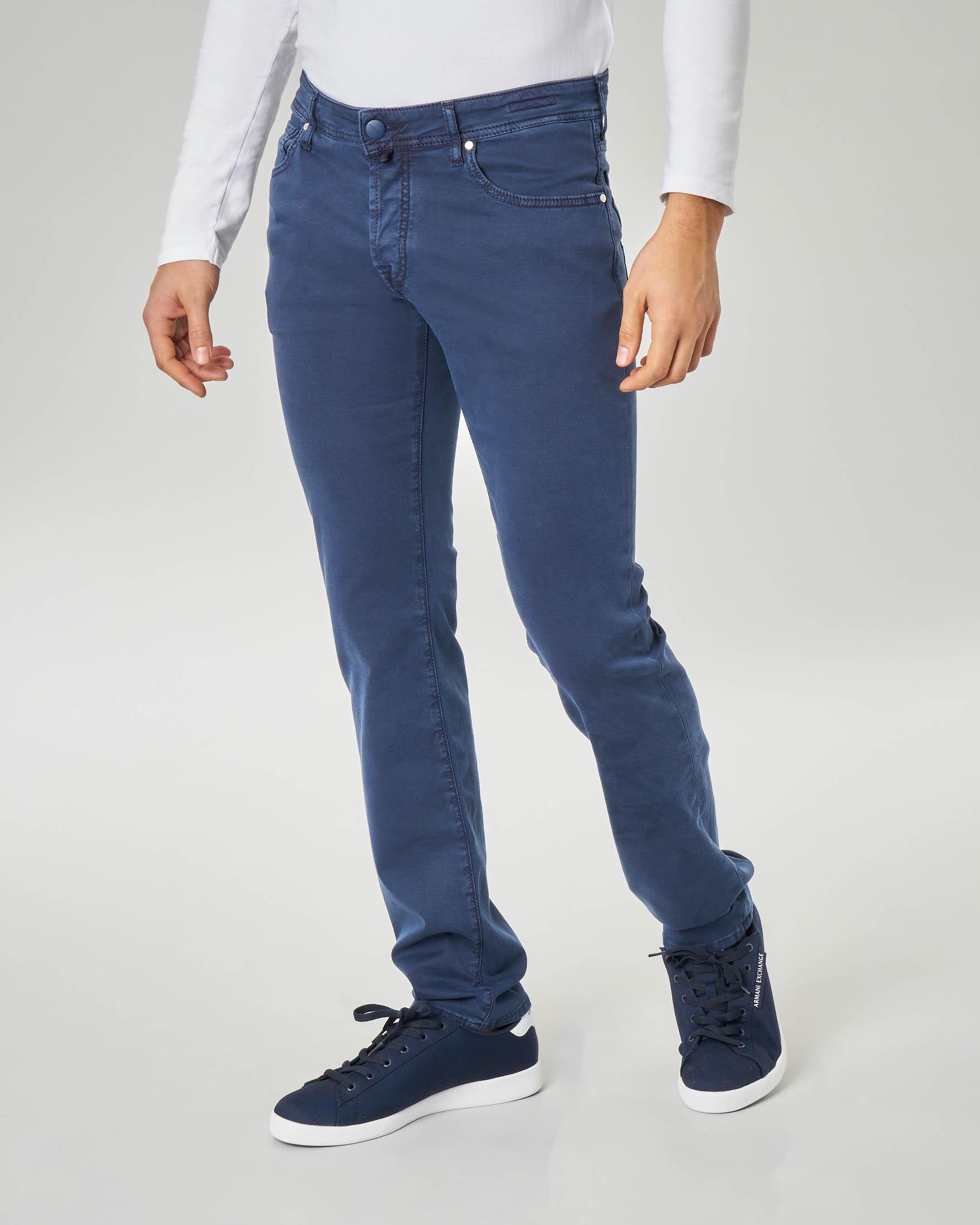 Pantalone blu cinque tasche