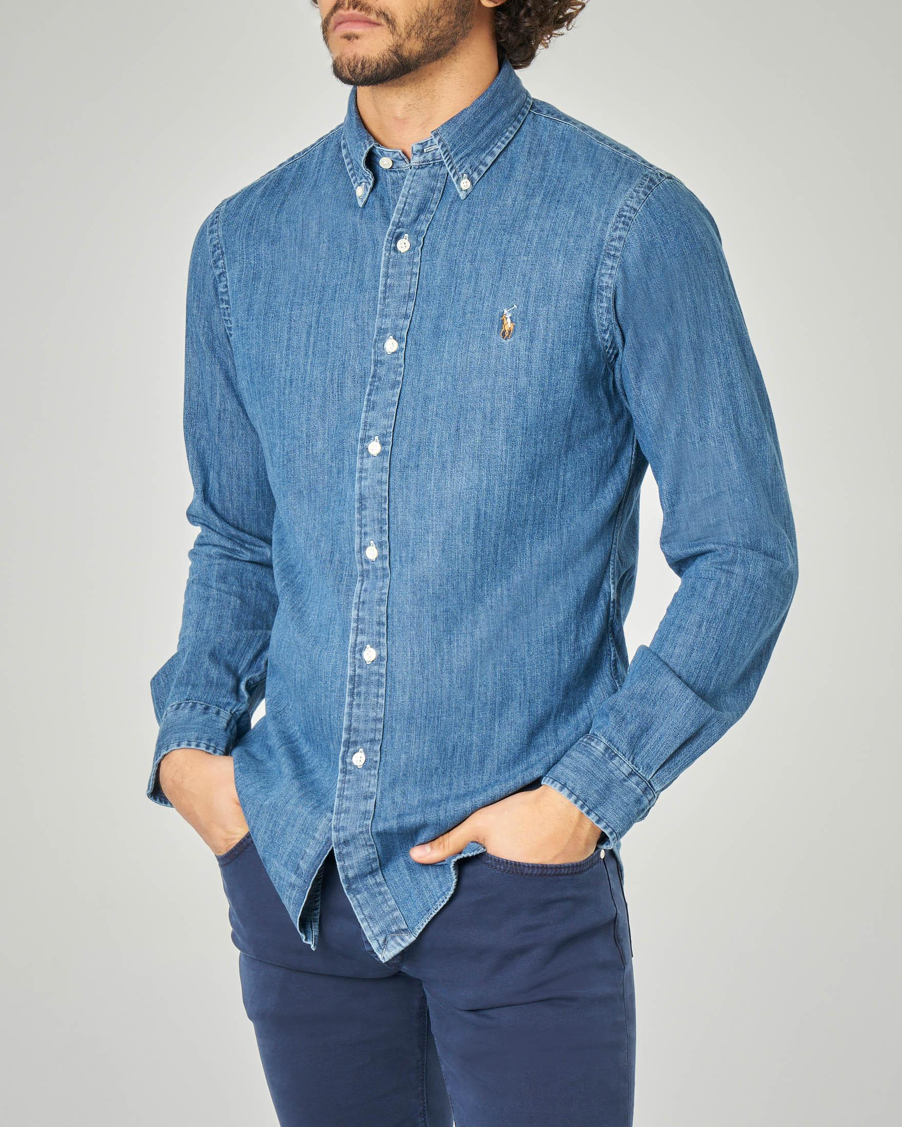 Camicia in denim button down