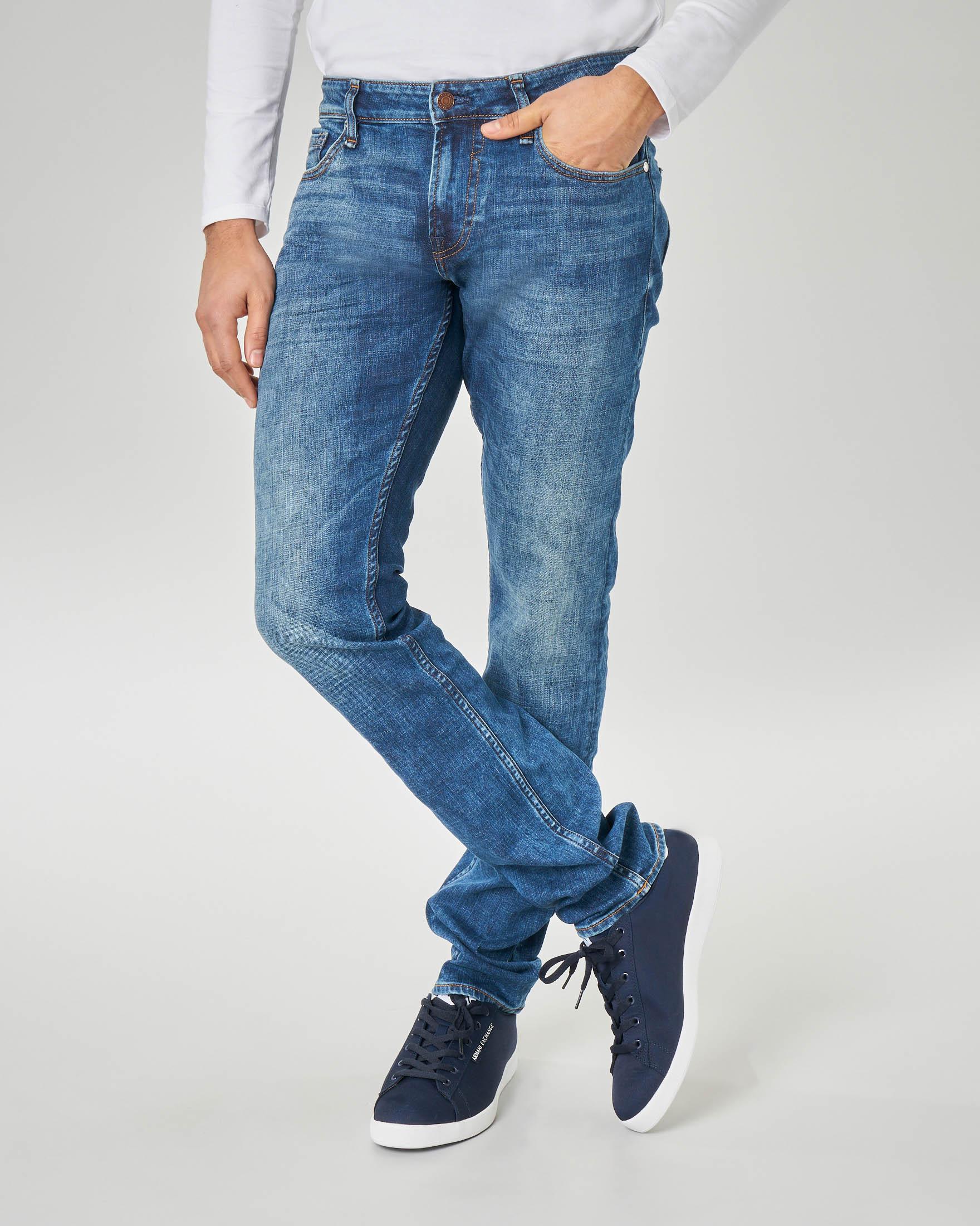 Jeans super skinny lavaggio stone wash