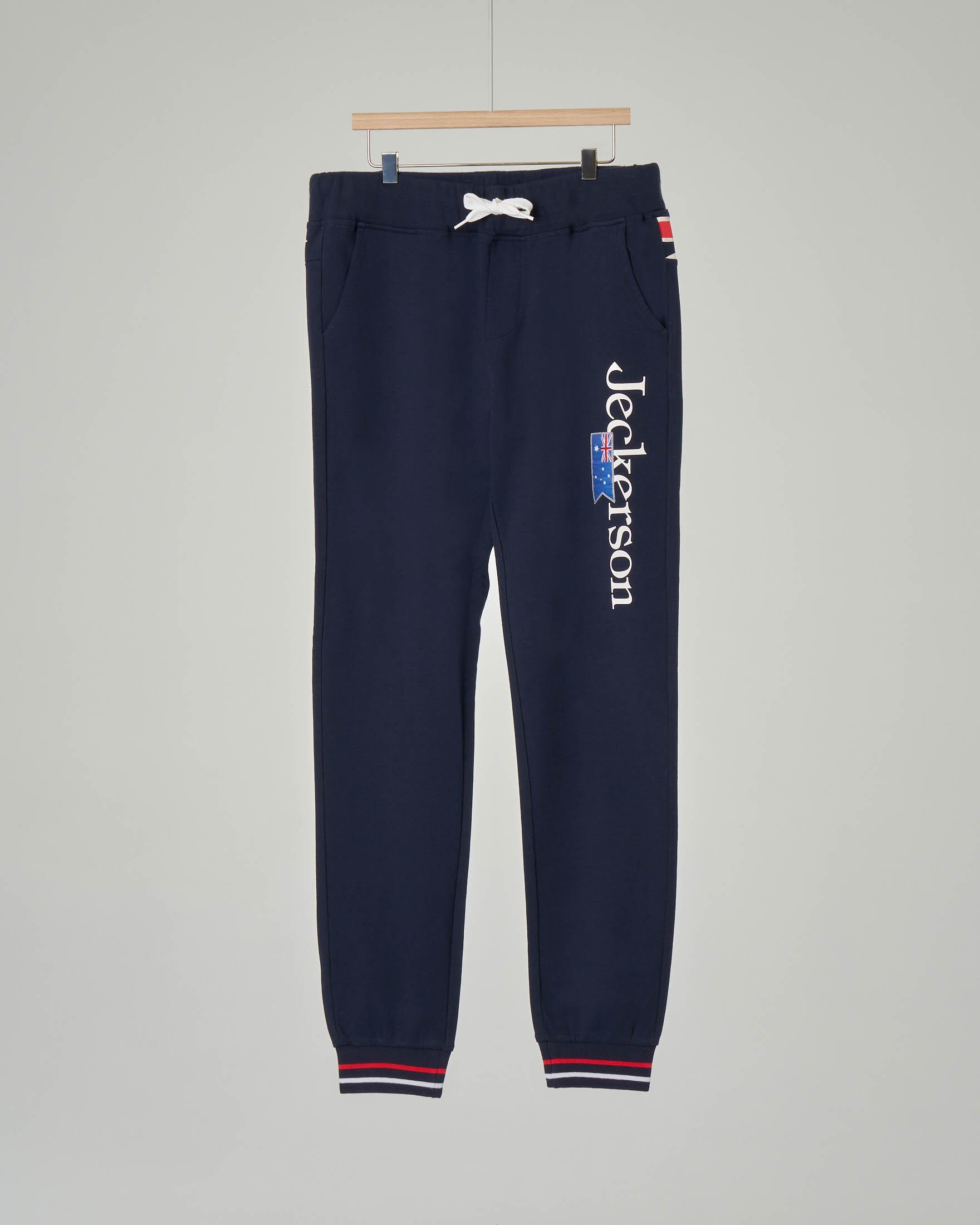 Pantalone blu in felpa