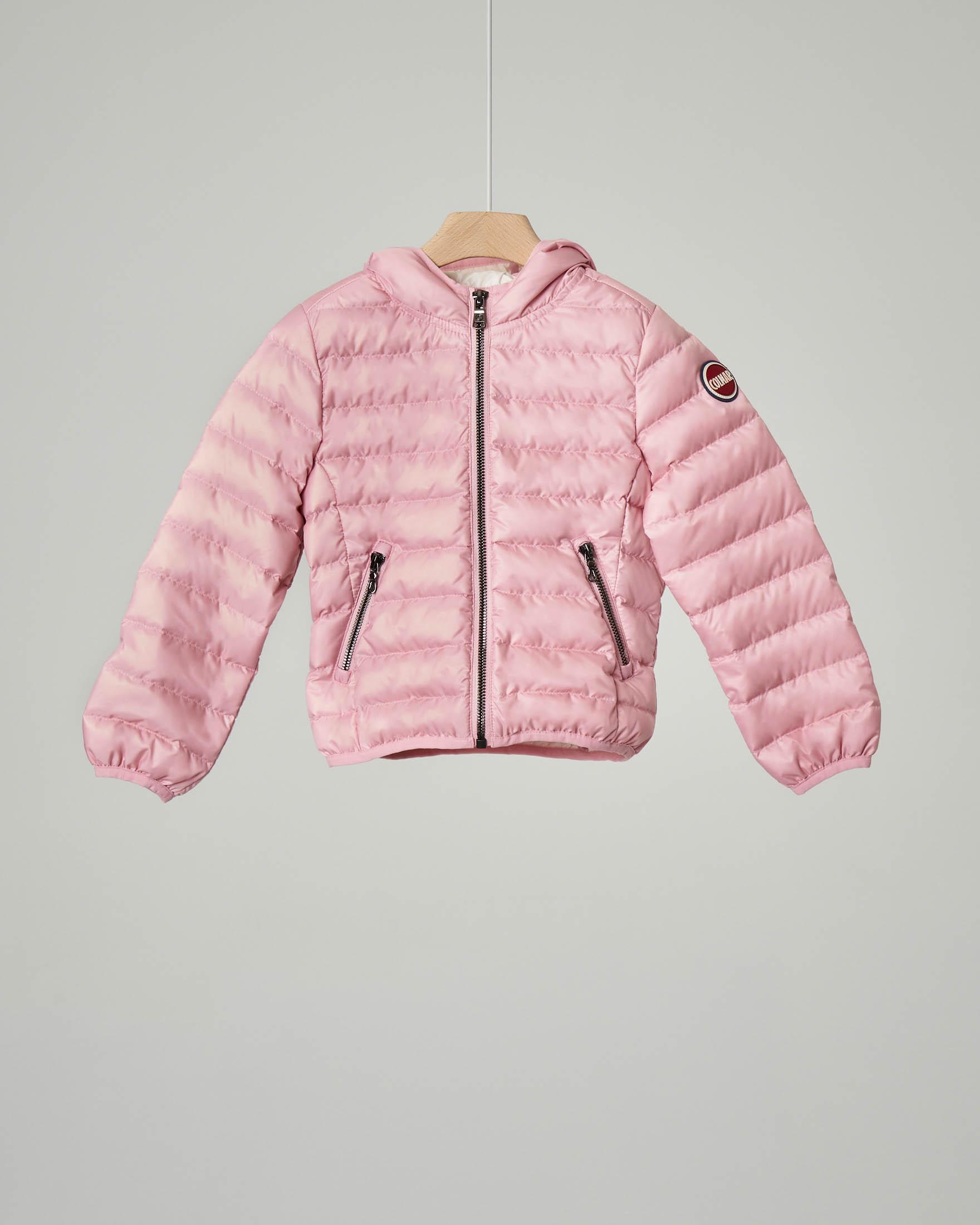 Piumino rosa con cappuccio 6-36 mesi