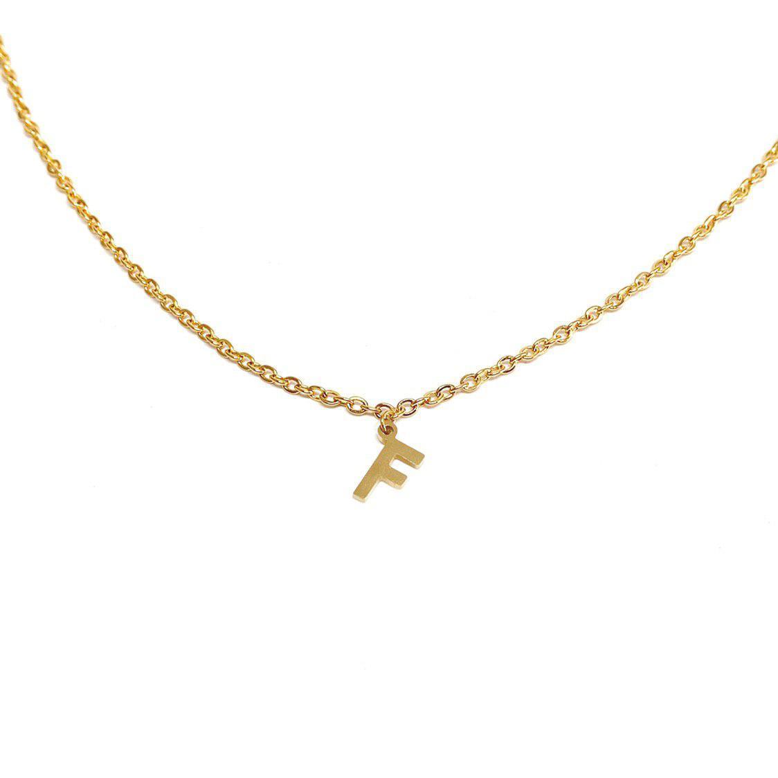 Argento Collana O Oro Con Iniziale vnOymN0w8