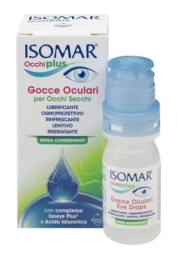ISOMAR OCCHI PLUS - GOCCE OCULARI MULTIDOSE PER OCCHI SECCHI: LUBRIFICANTE, OSMOPROTETTIVO, RINFRESCANTE, LENITIVO, REIDRATANTE