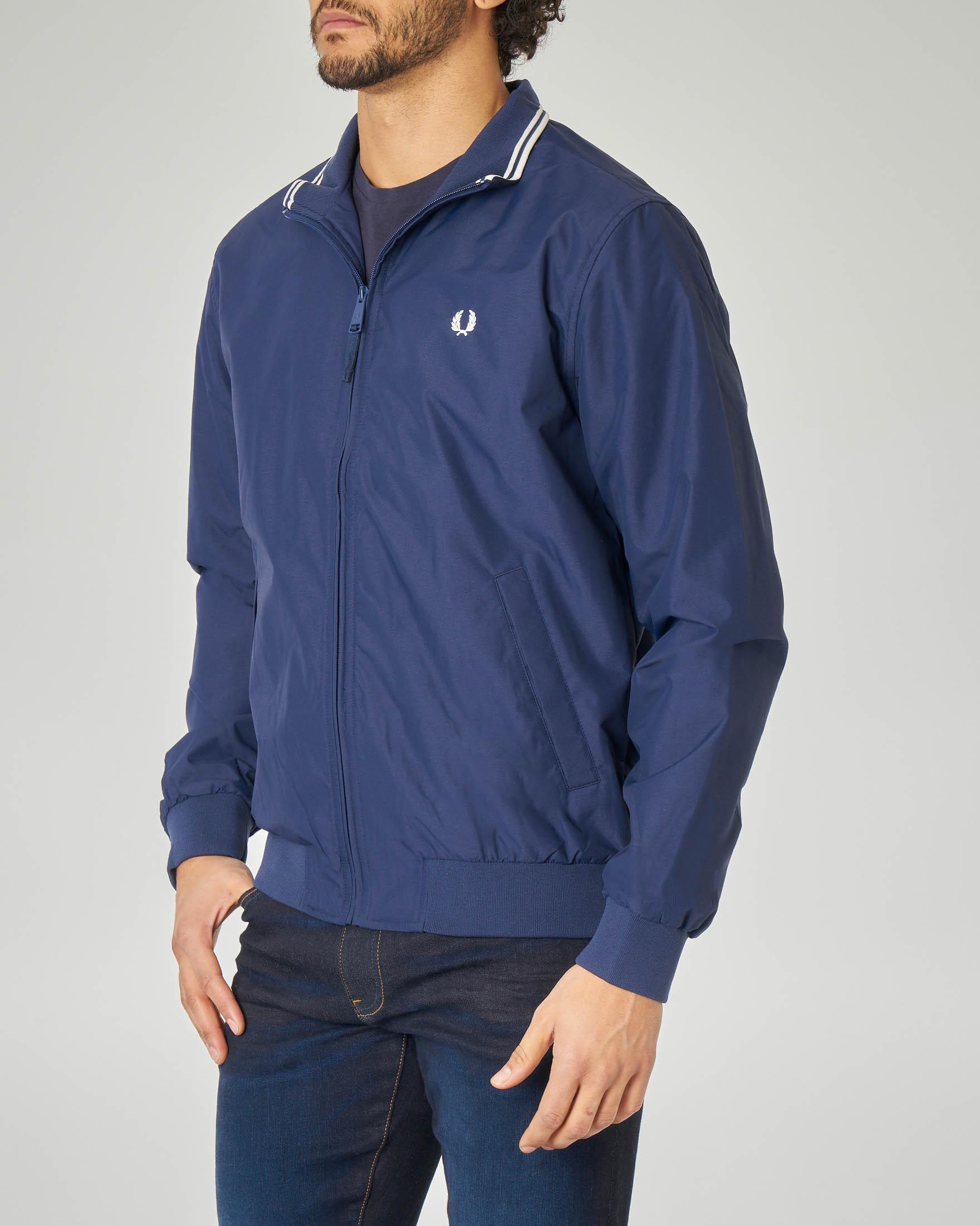 Giacca sailor blu con logo