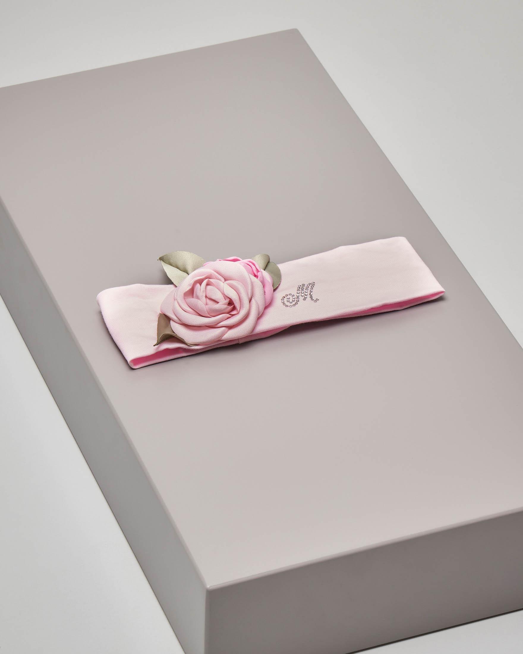 Fascia rosa con fiore