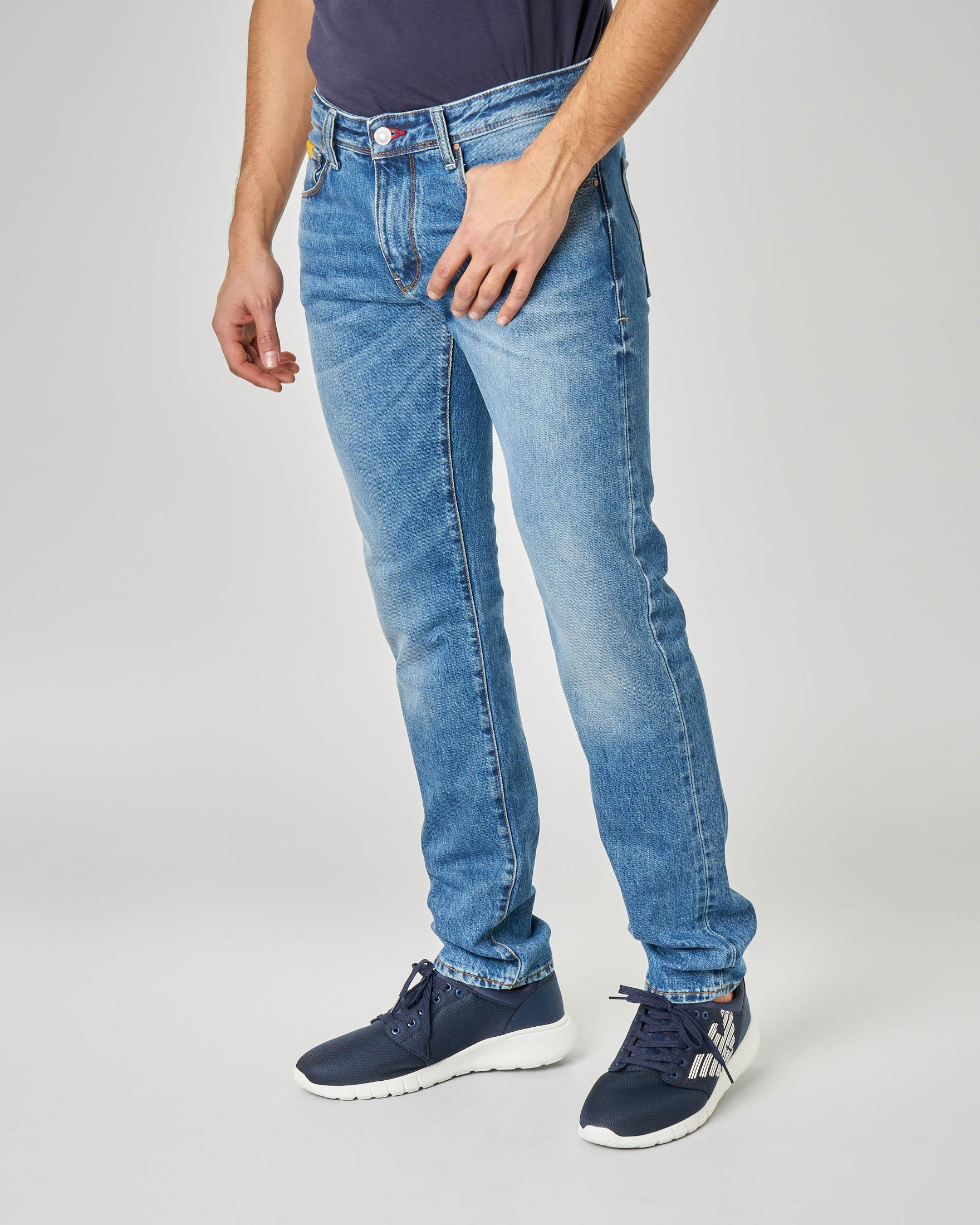 Jeans J13 lavaggio super stone wash slim fit