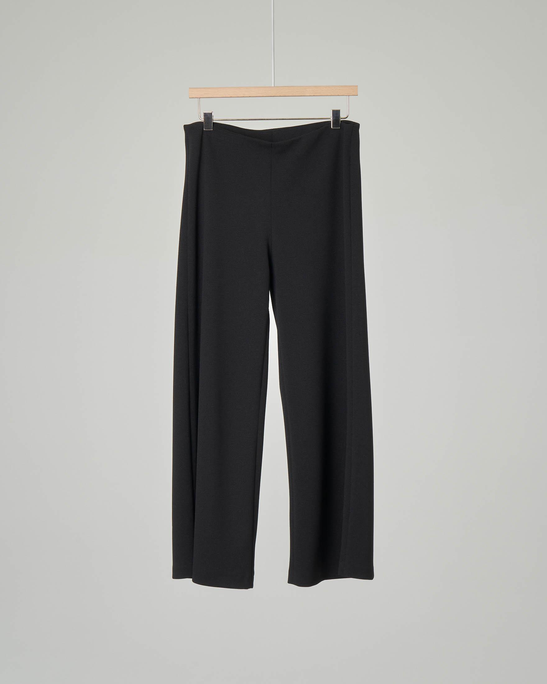Pantalone a palazzo nero taglia 34-38