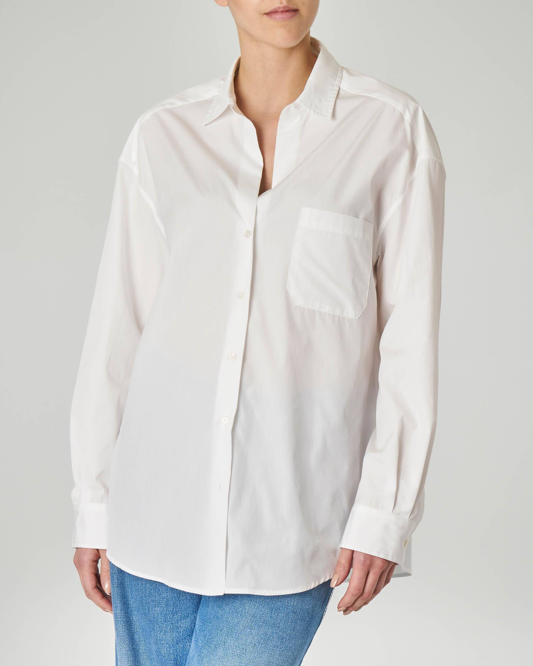 Camicia bianca oversized in cotone