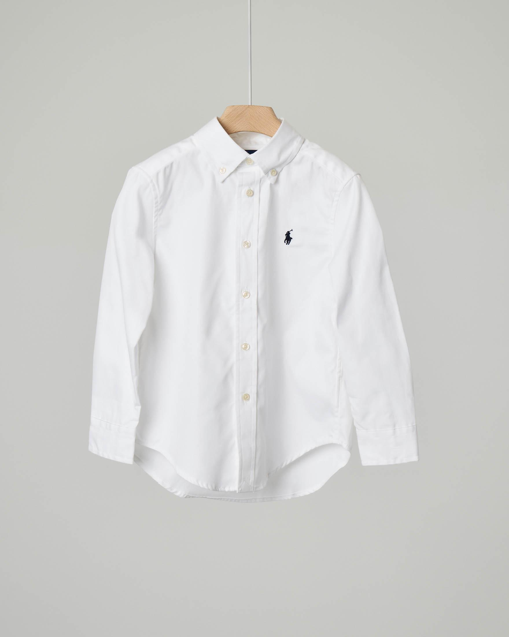 Camicia bianca button down in oxford 8 anni