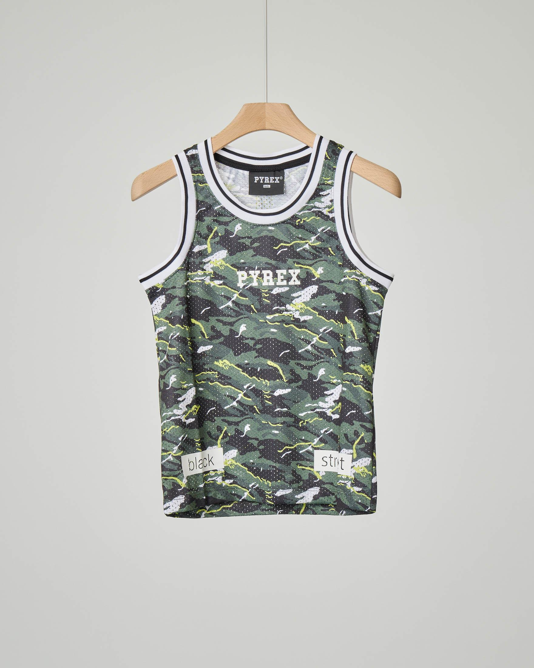 Canotta camouflage in mesh