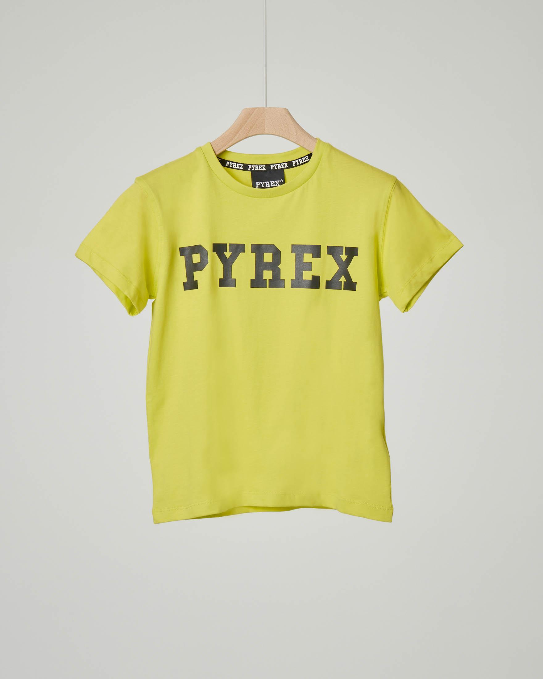 T-shirt gialla con logo nero
