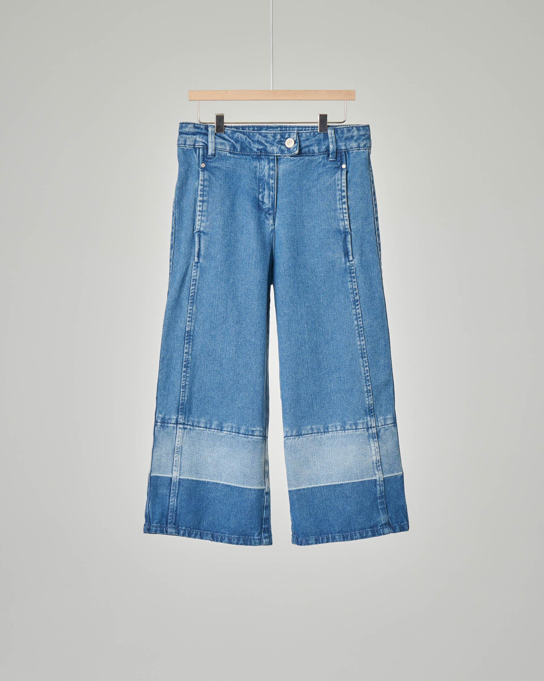 Jeans con fasce a contrasto colore