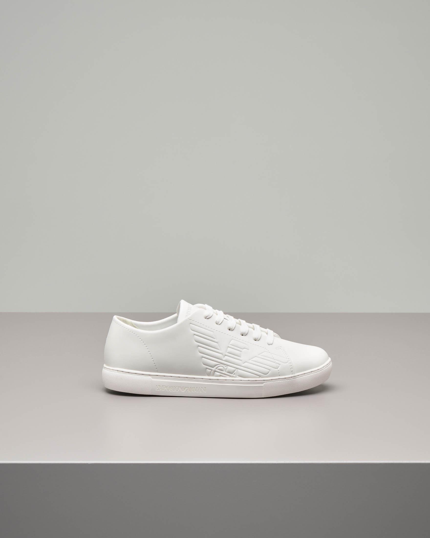 Sneakers bianco in pelle
