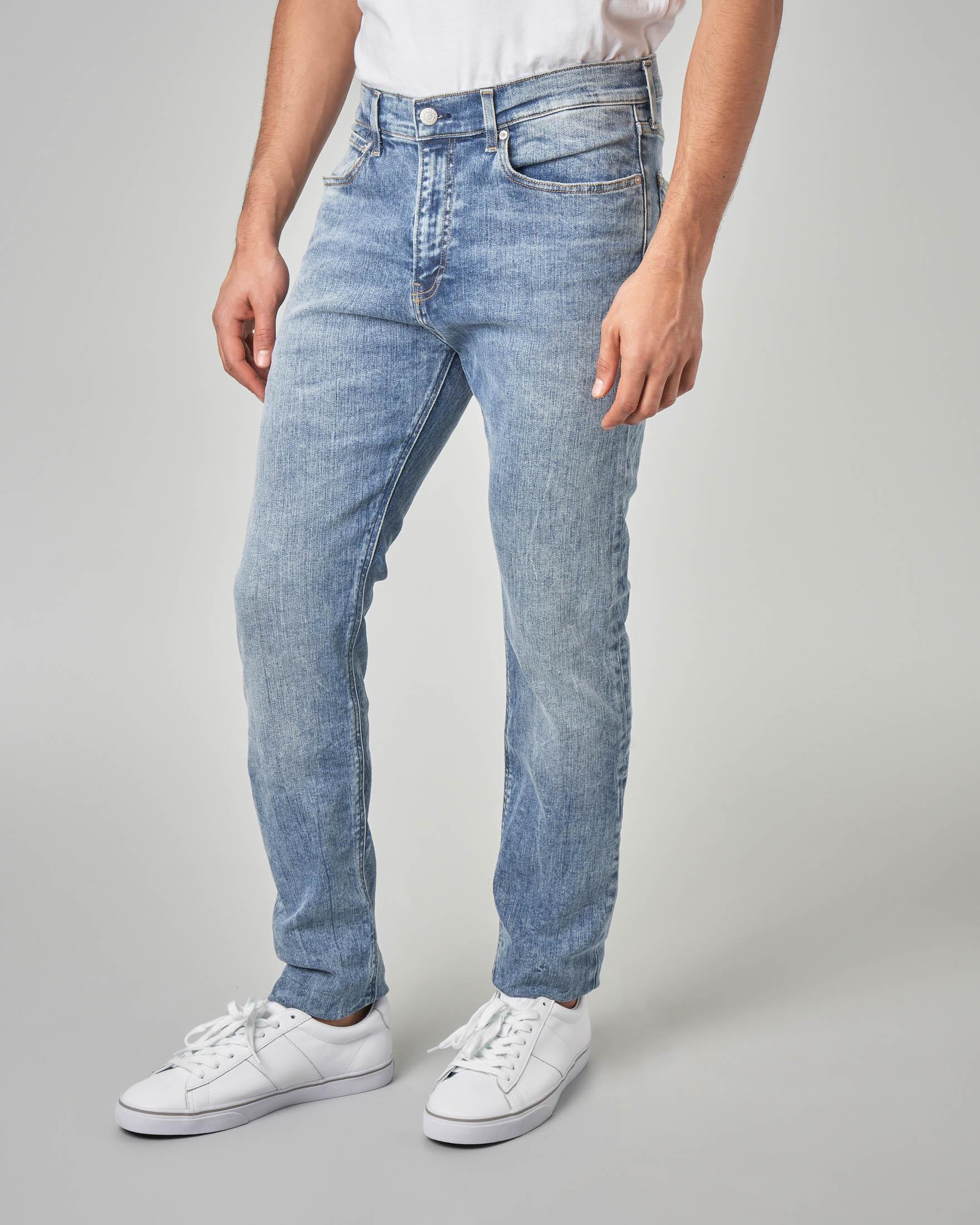 Jeans skinny marmorizzato