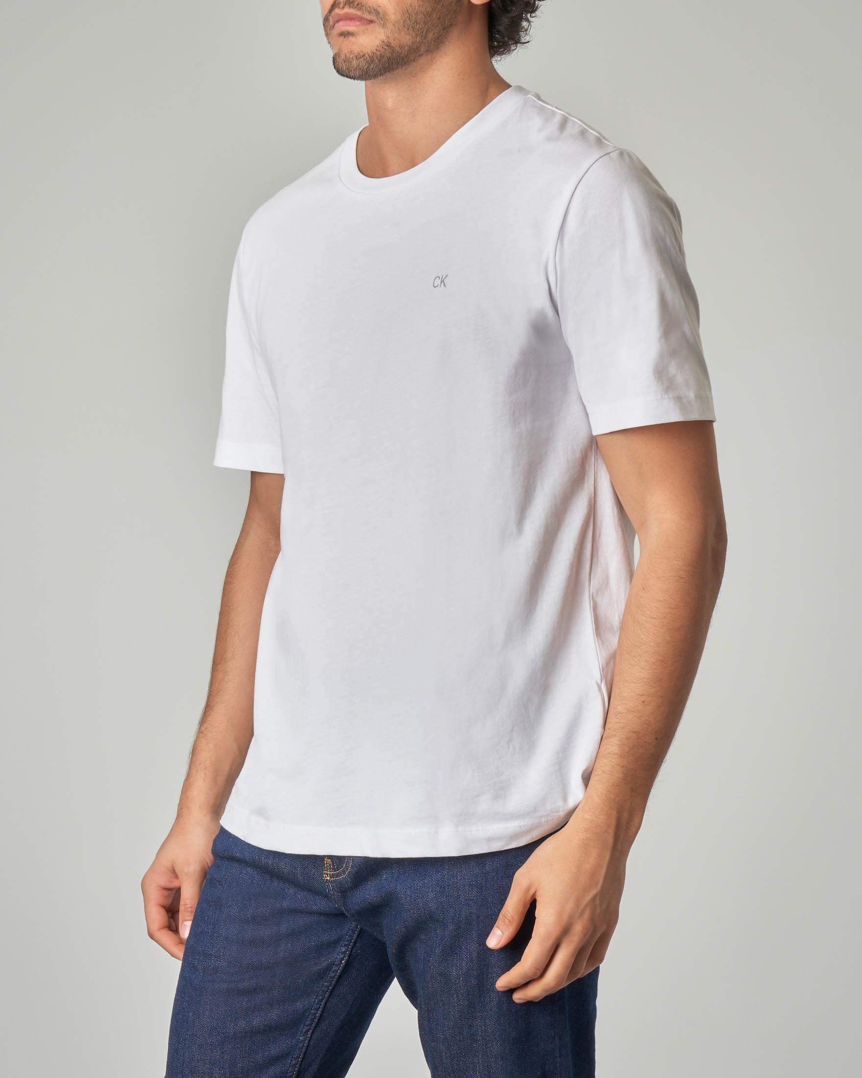 T-shirt bianca con logo CK