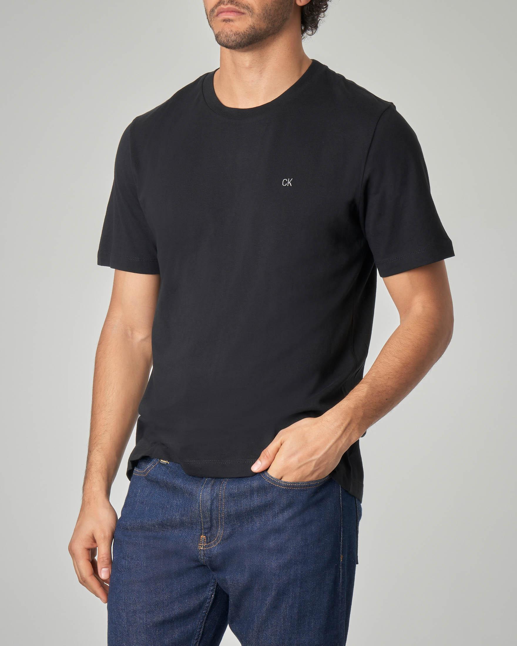 T-shirt nera con logo CK