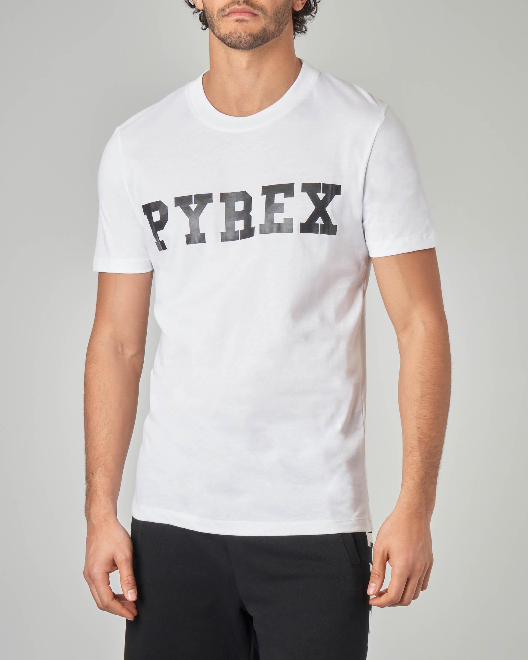 T-shirt bianca con logo nero
