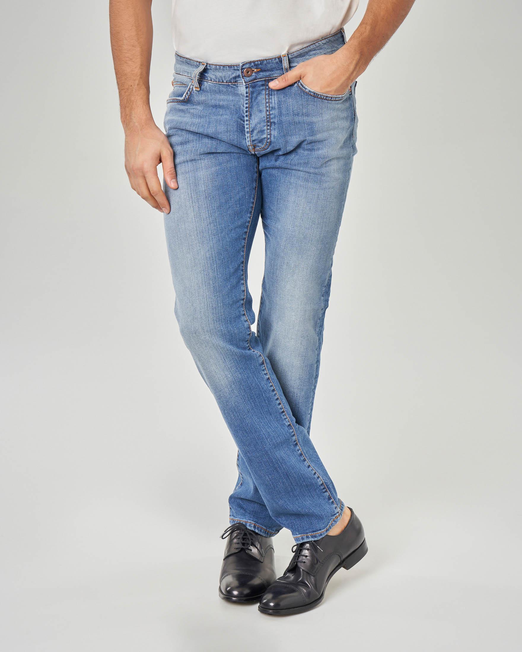 Jeans 529 lavaggio bleach con sabbiature