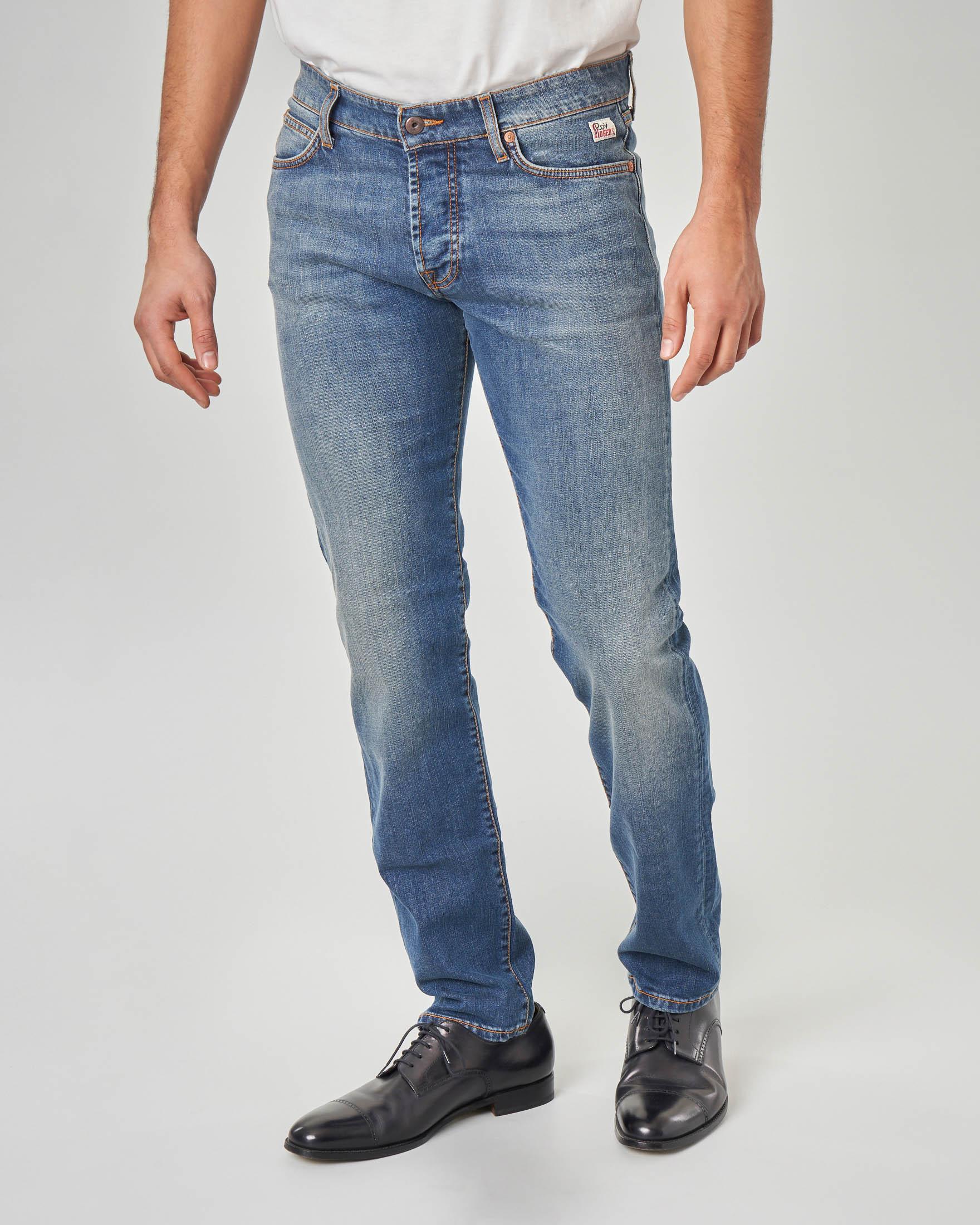 Jeans 529 lavaggio stone wash con sabbiature