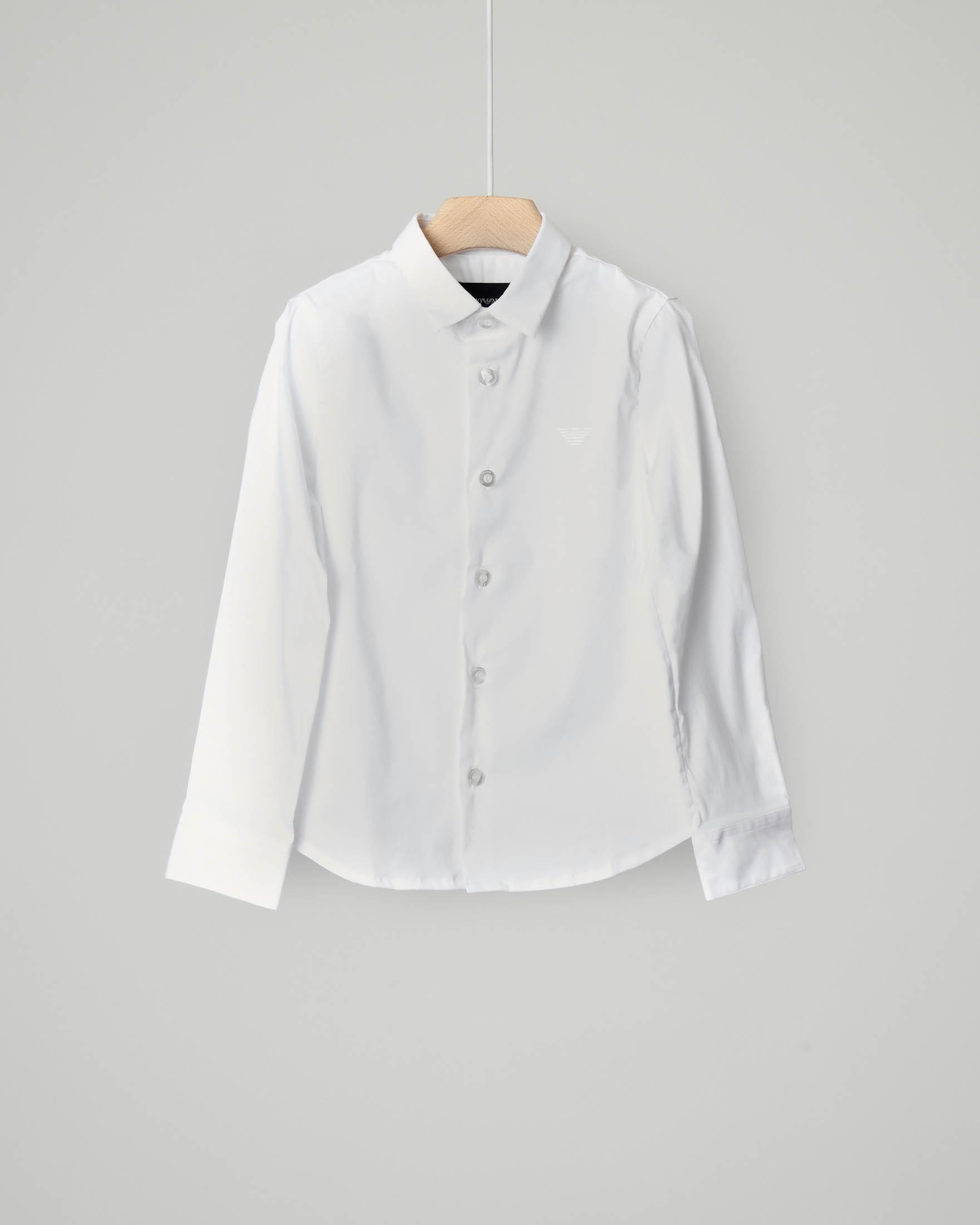 Camicia bianca in popeline stretch di cotone