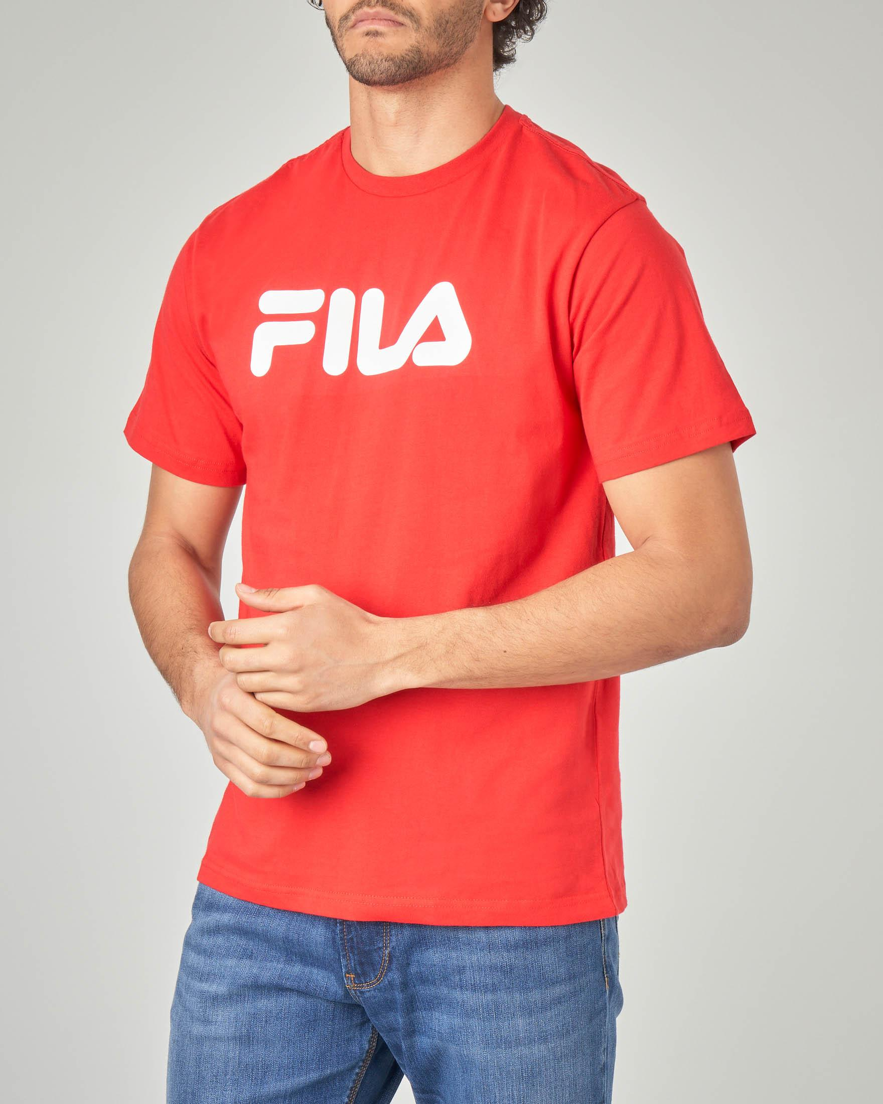 T-shirt rossa con logo