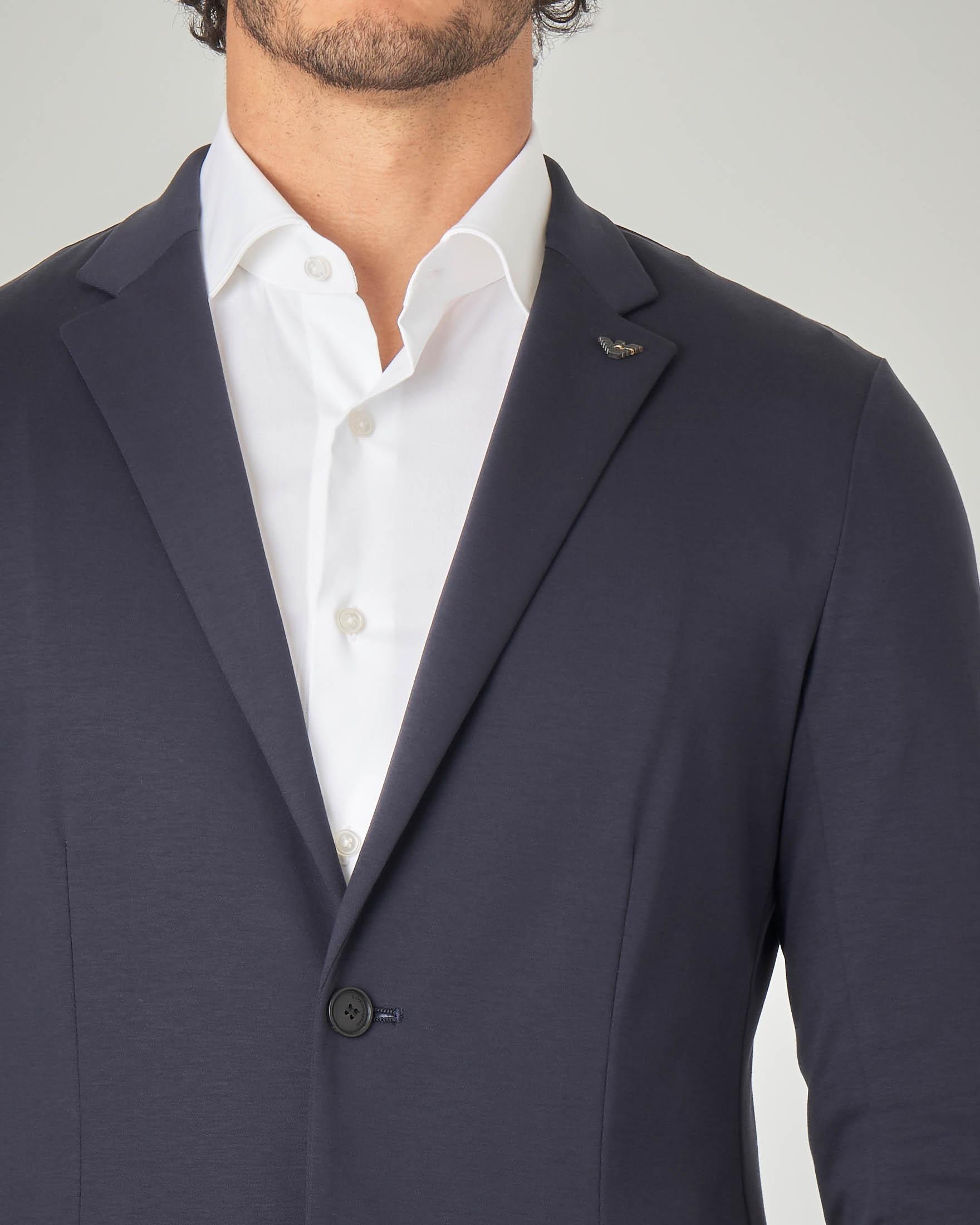 Giacca blu in jersey