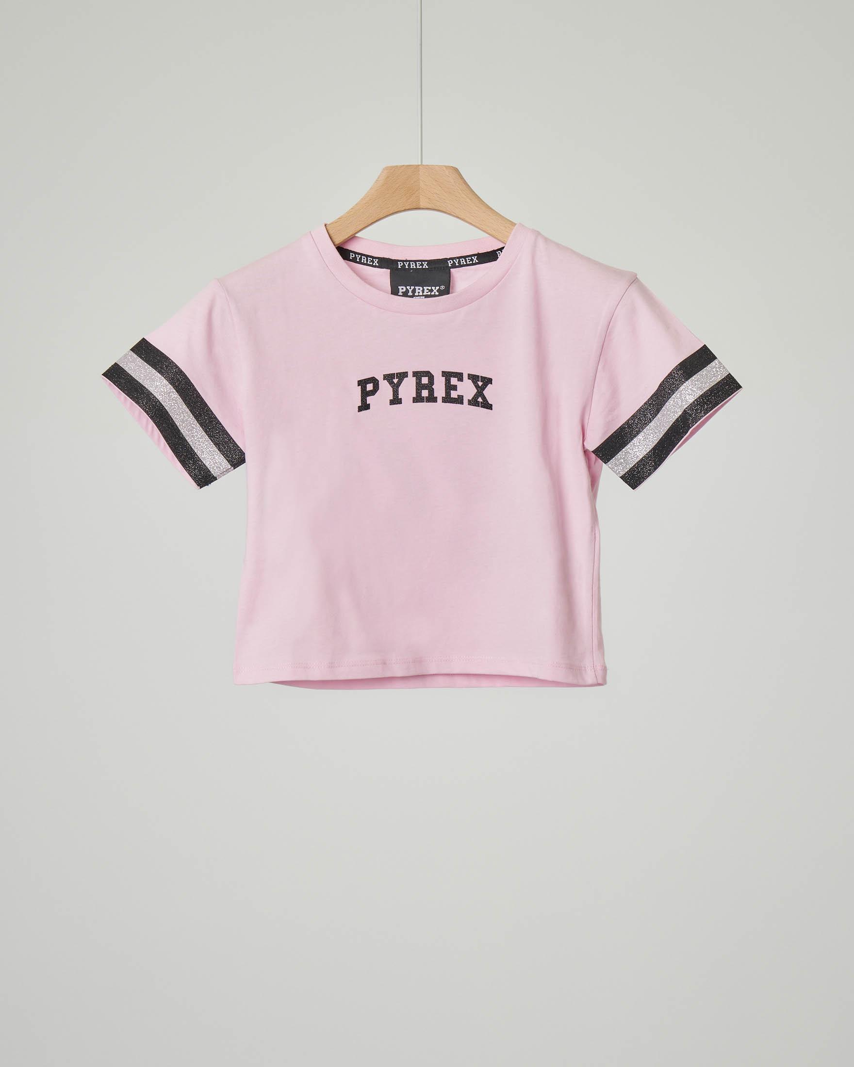 T-shirt rosa corta