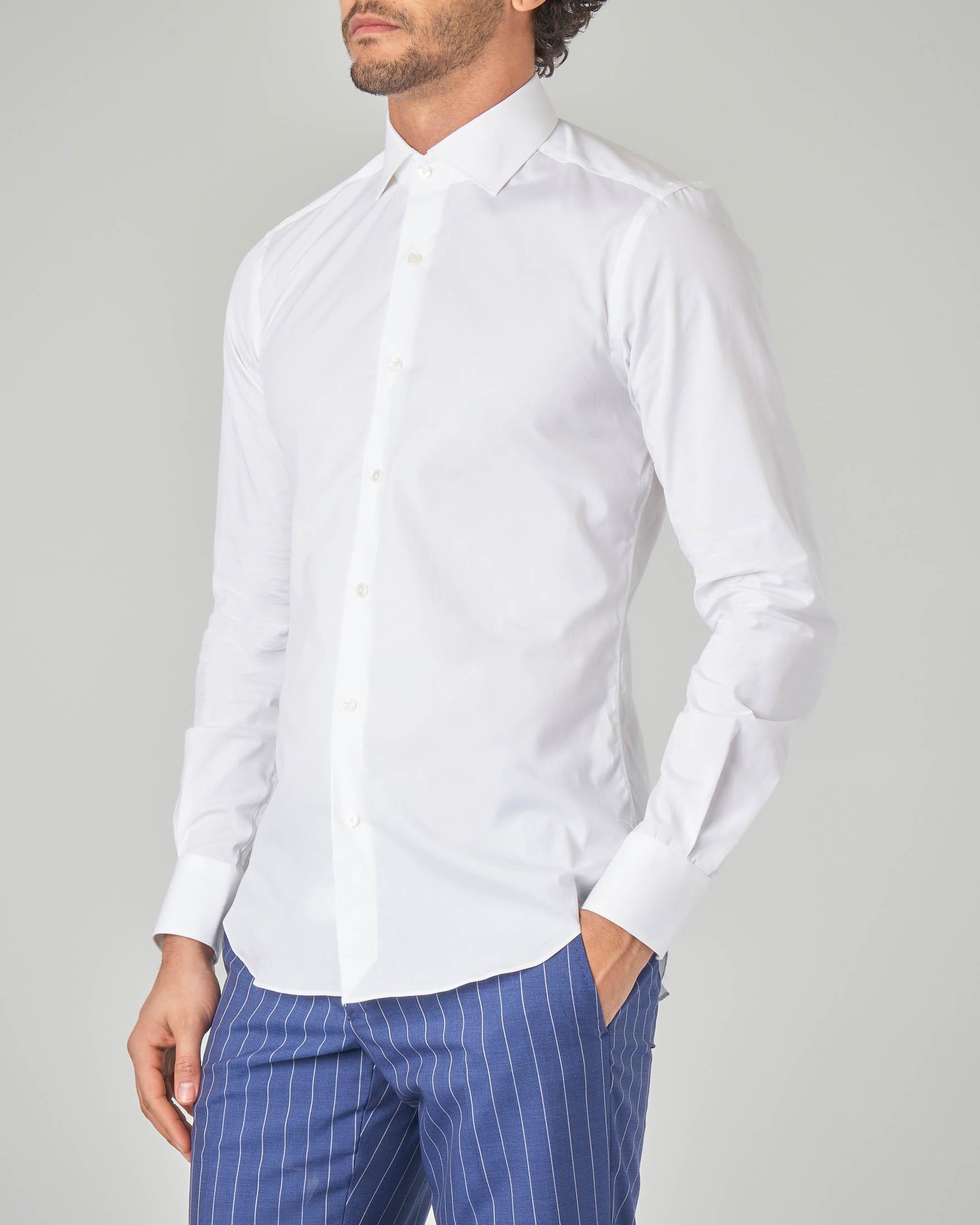 Camicia bianca in cotone stretch