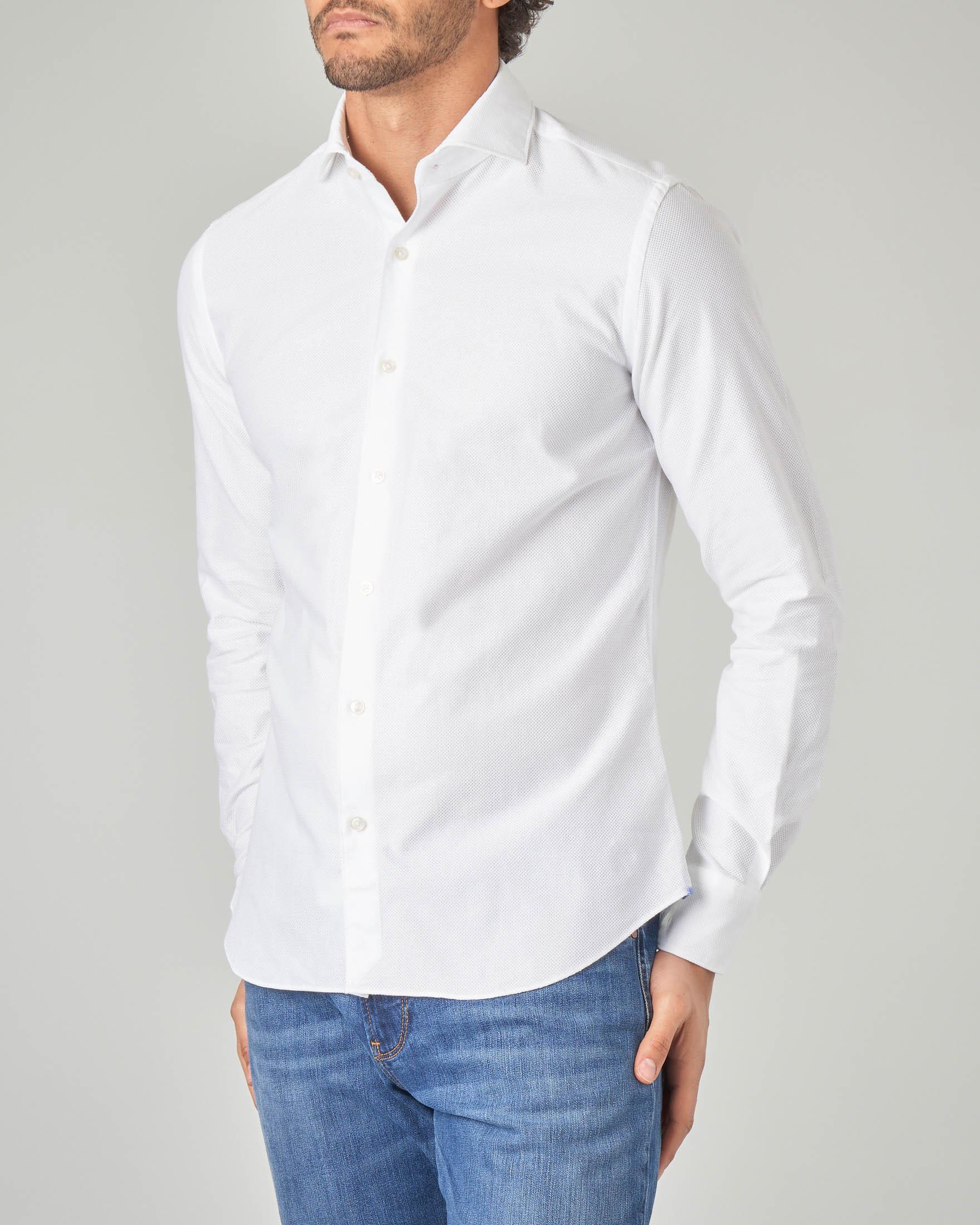 Camicia bianca in tessuto giro inglese