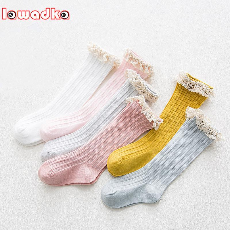 6d79fa34904 Lawadka Kid Princess Girls Socks Children s Knee High Socks with Lace Baby  Leg Warmers Cotton Spring Style - BlowupMarket