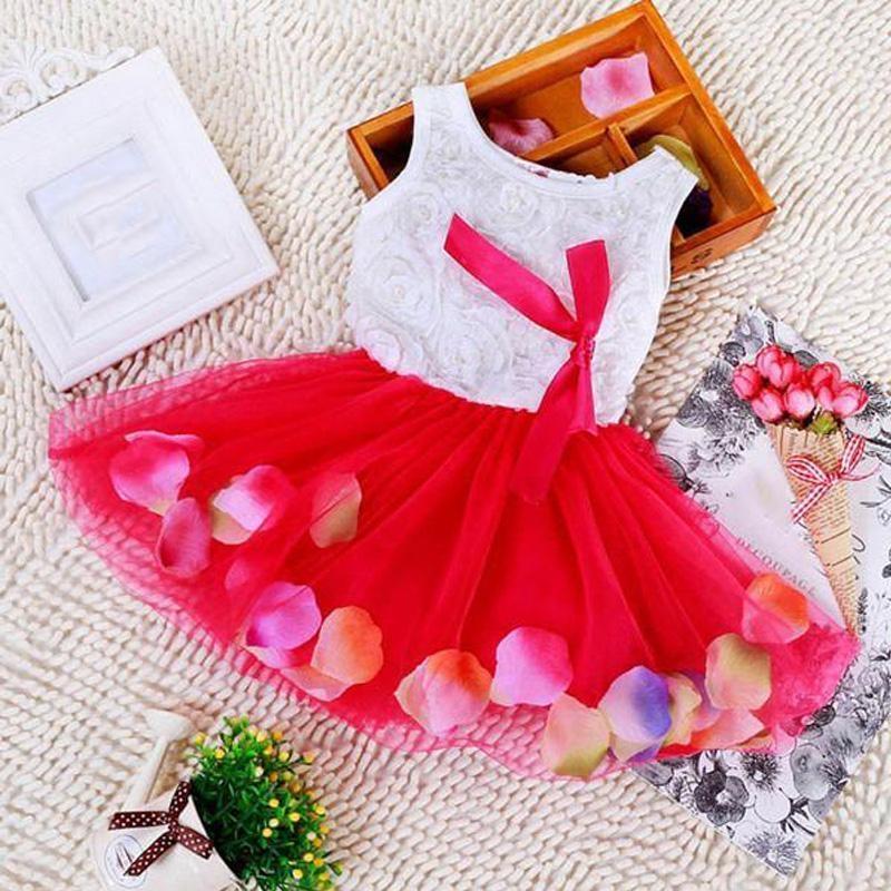 93f5d7539a Kids Girls Flower Dress Baby Girl Butterfly Birthday Party Dresses Children  Fancy Princess Ball Gown Wedding Clothes - BlowupMarket