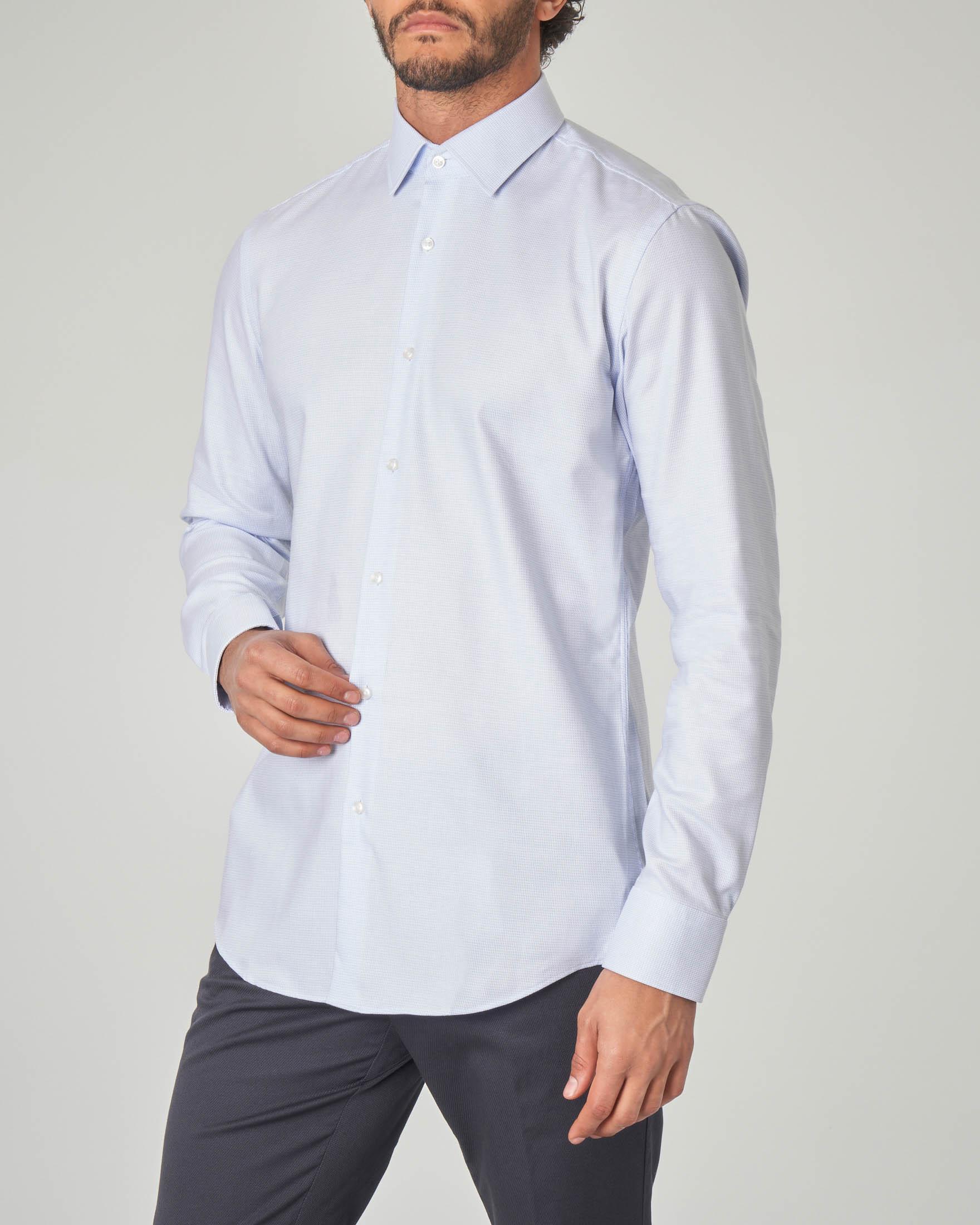 Camicia azzurra Jenno slim fit
