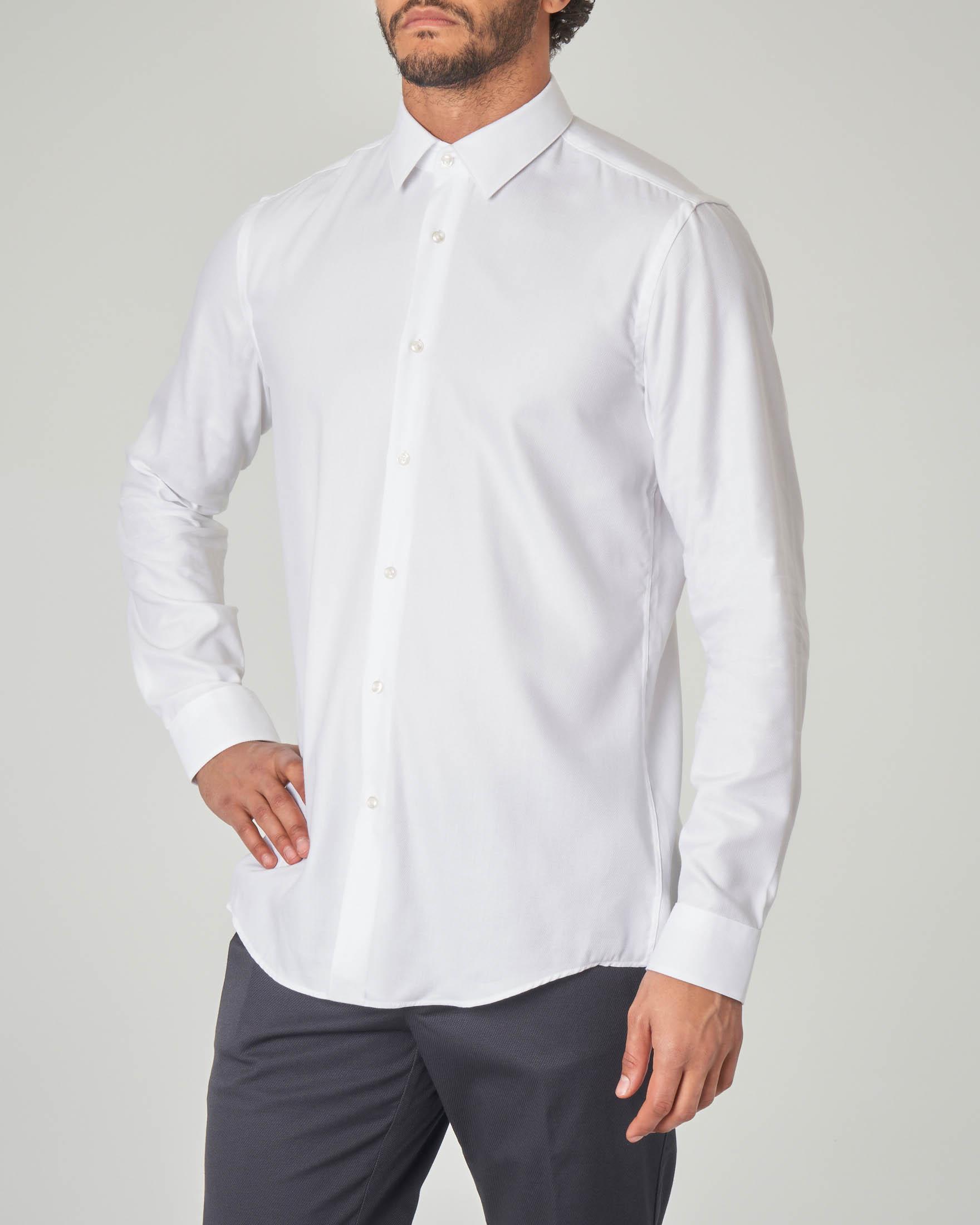 Camicia bianca Isko diamante