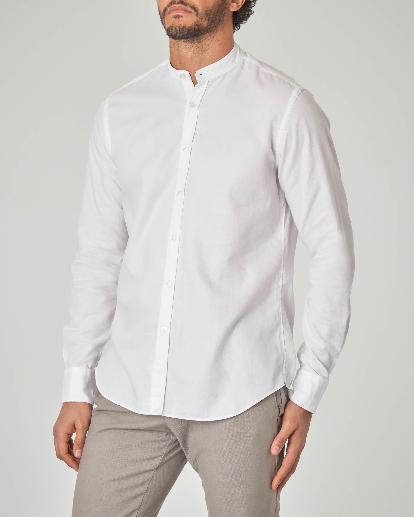 Camicia bianca coreana micro-armatura