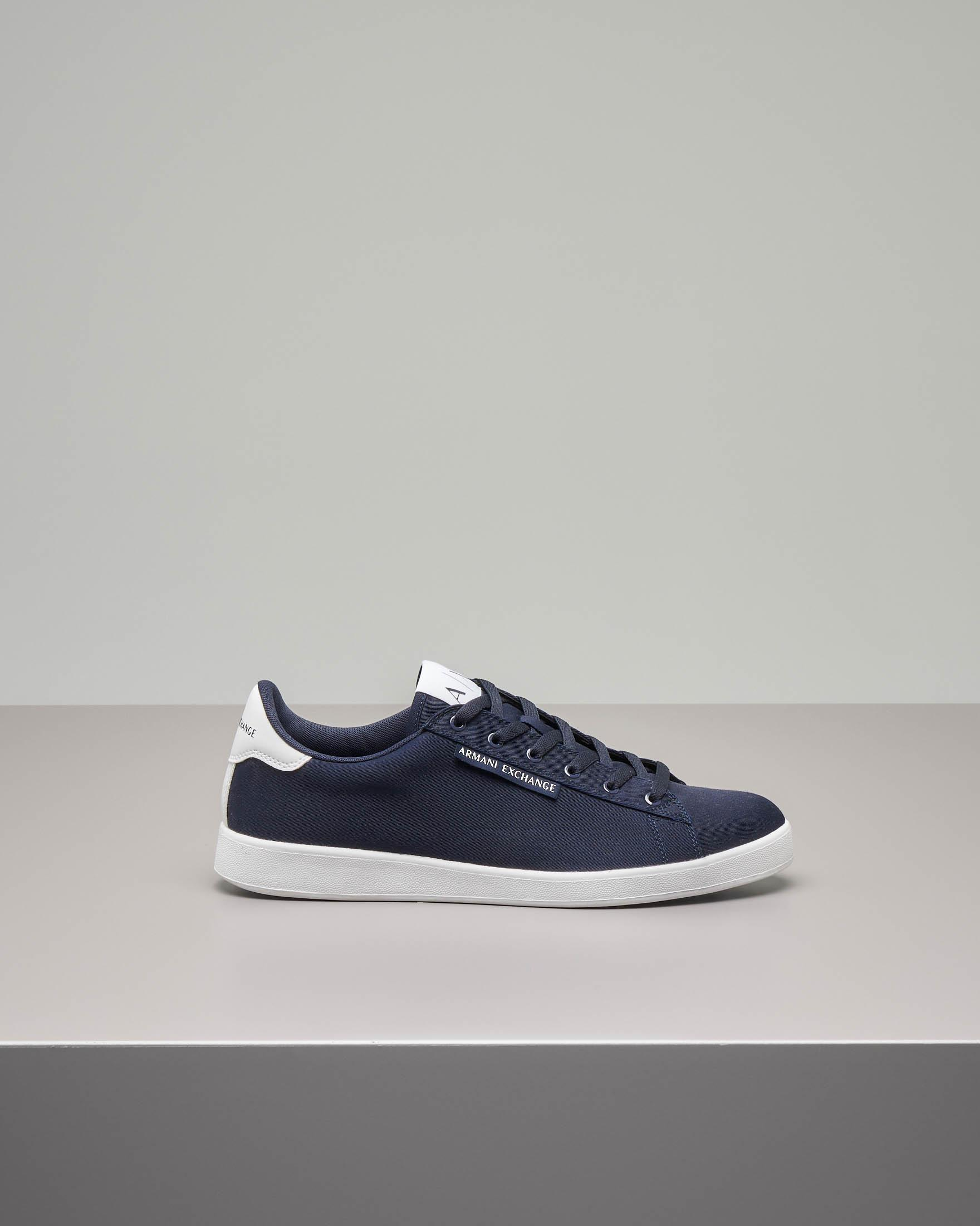 Sneakers blu in tela