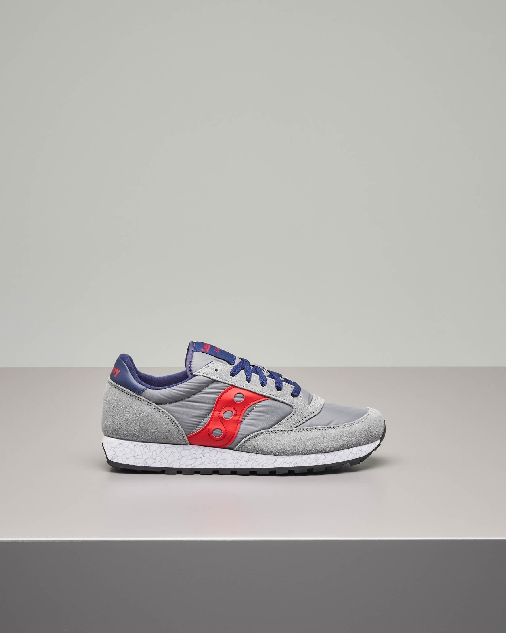 Sneakers Jazz O' grigie e rosse
