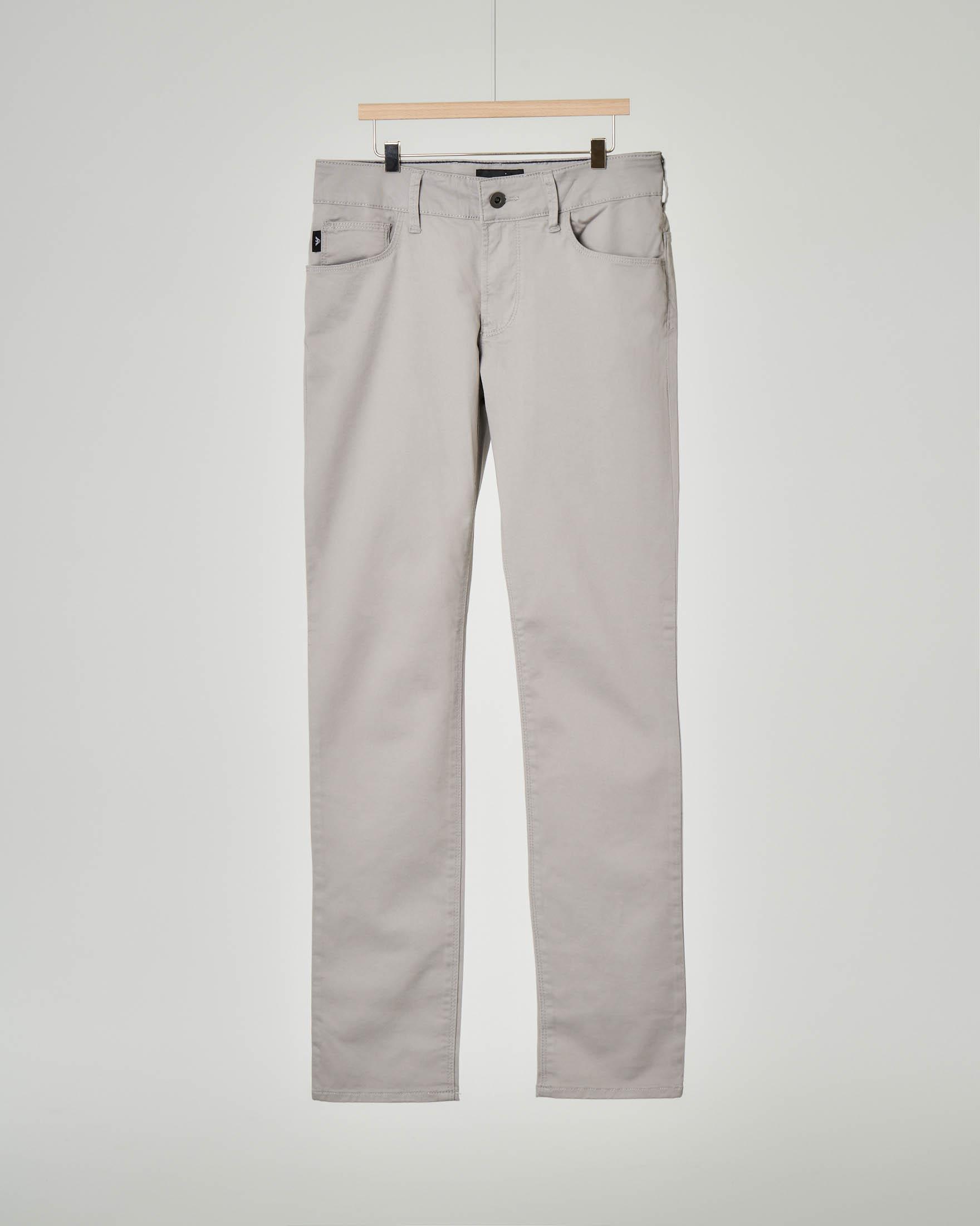 Pantalone grigio cinque tasche