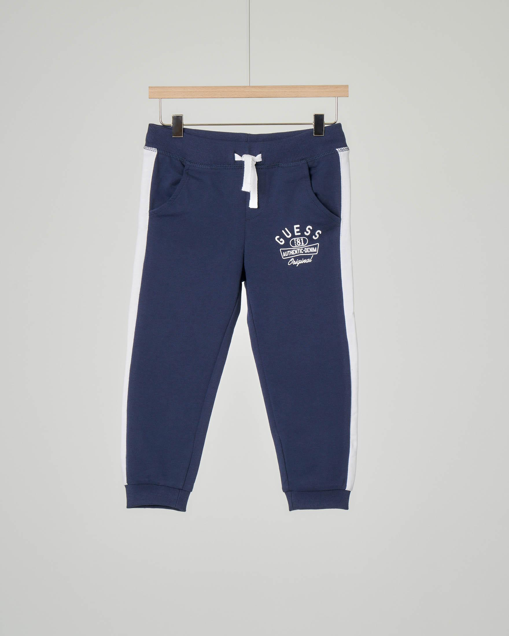 Pantalone in felpa blu