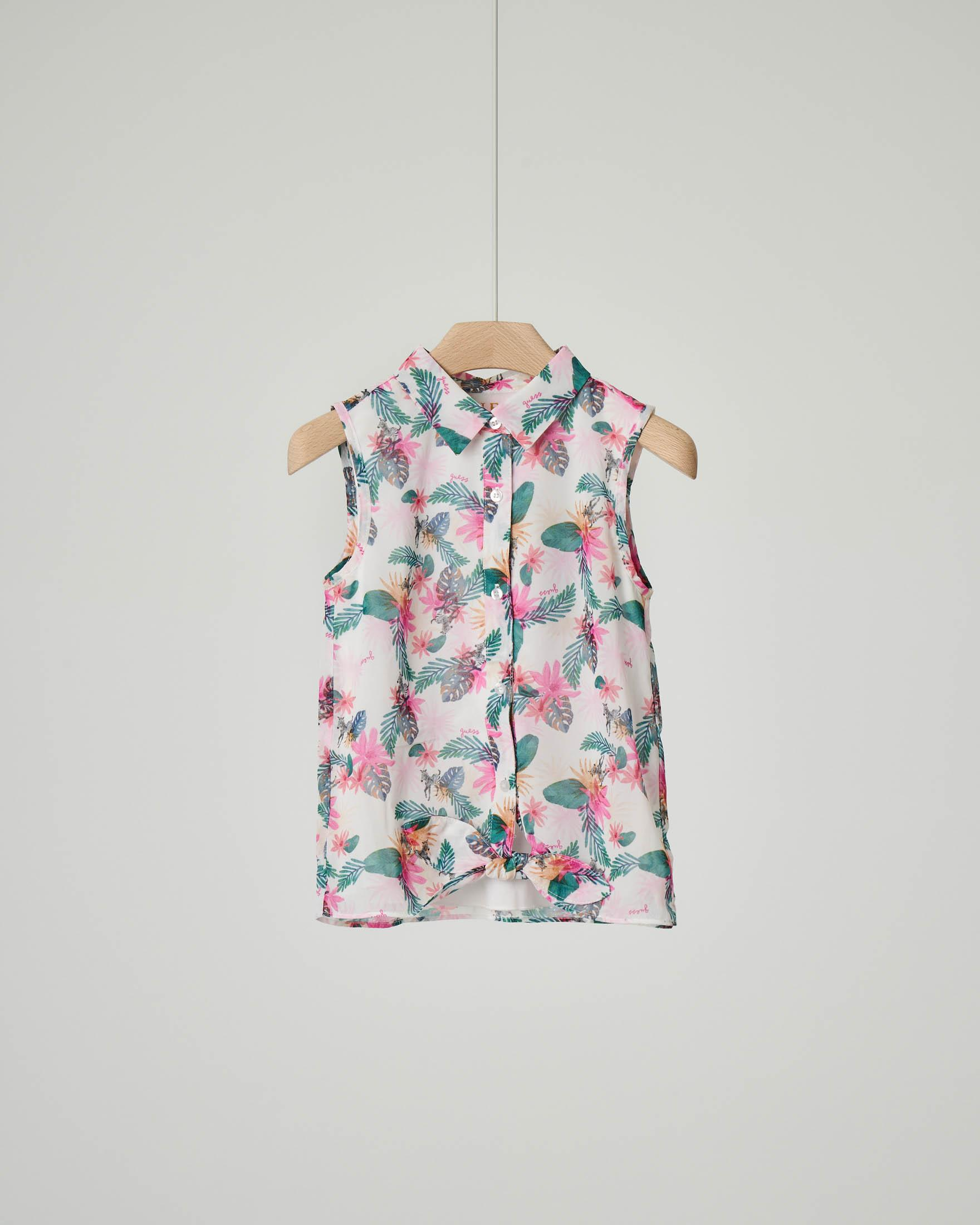 Camicia smanicata fantasia jungle