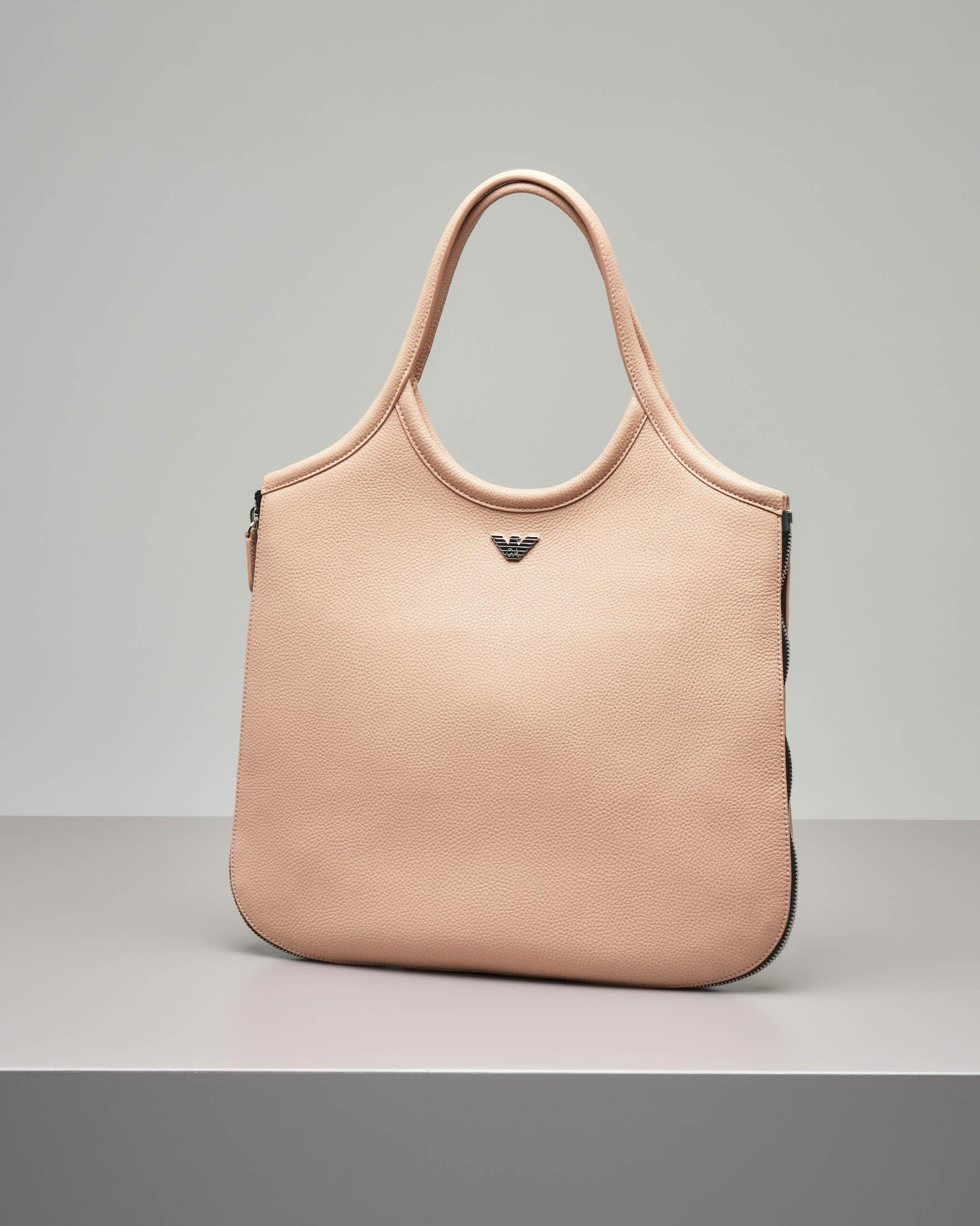 Borsa hobo in pelle color rosa