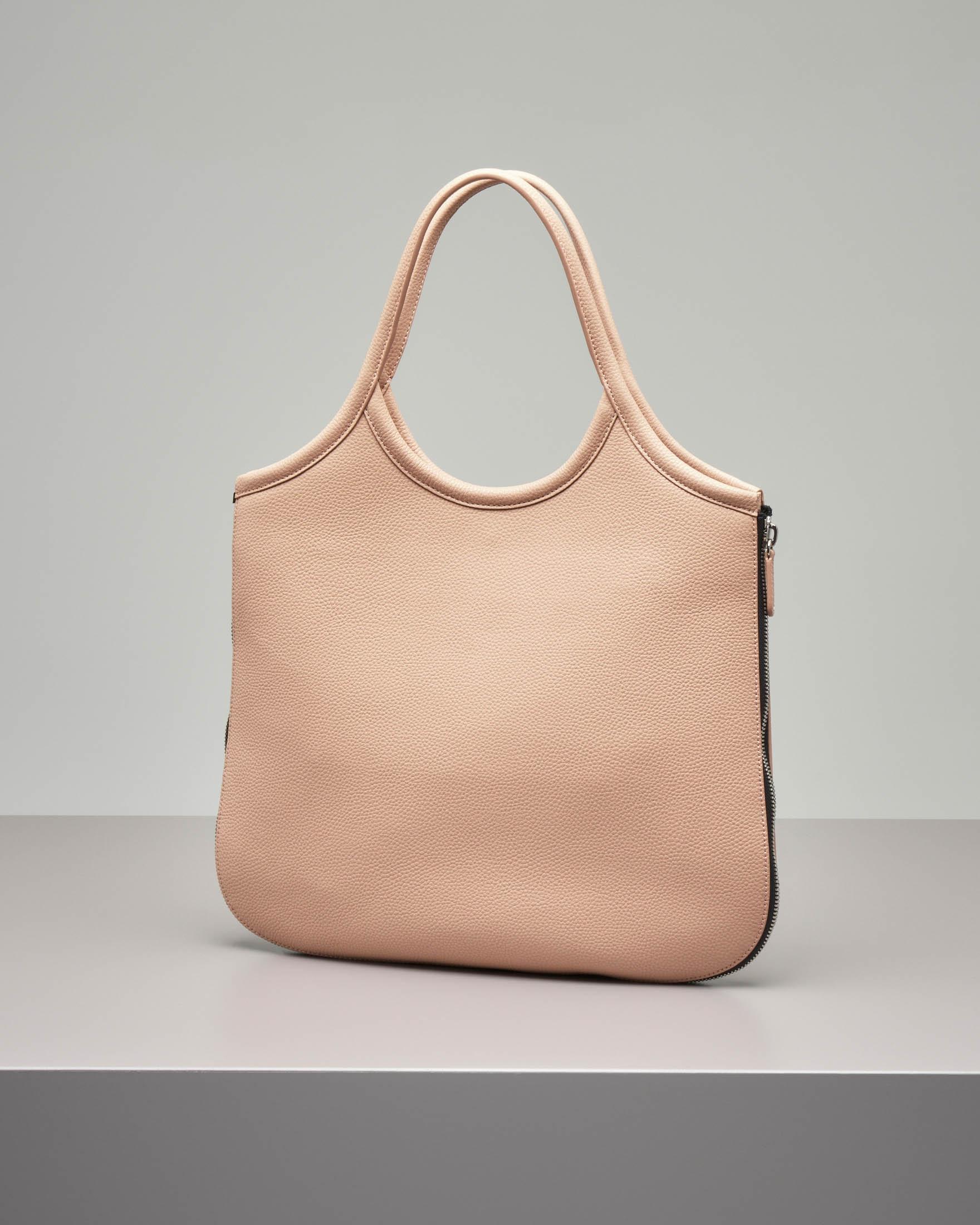 Borsa hobo in pelle color rosa