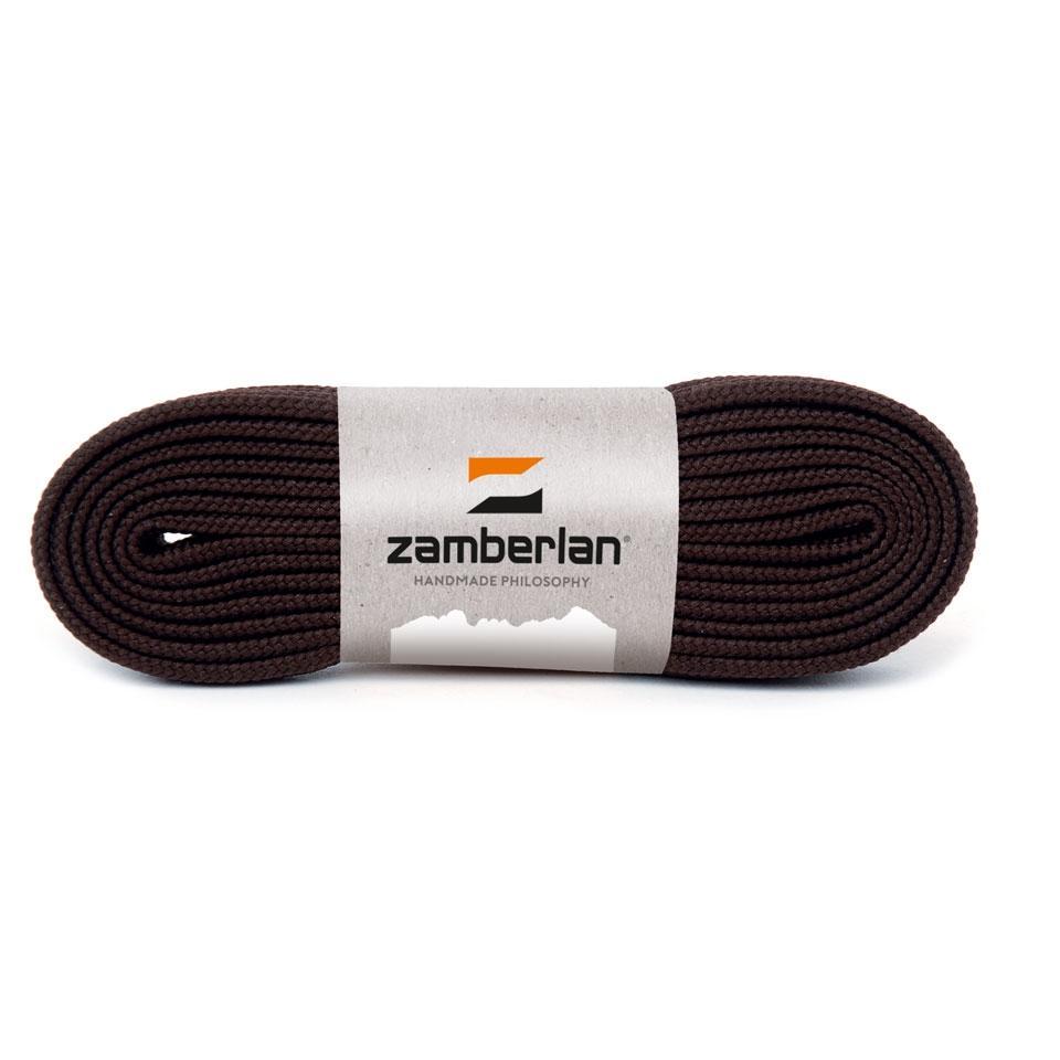 ZAMBERLAN® REPLACEMENT FLAT BOOT LACES   -   Dark Brown