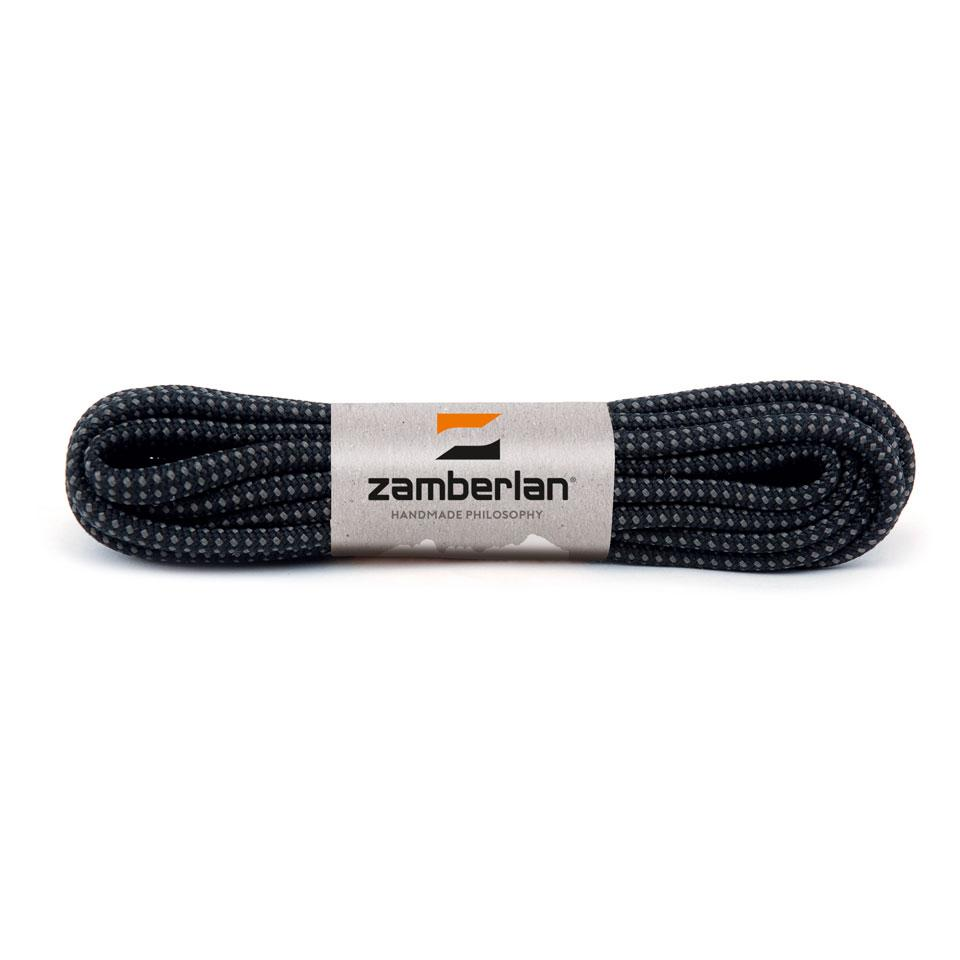 ZAMBERLAN® REPLACEMENT ROUND LACES    -   Black / Ash