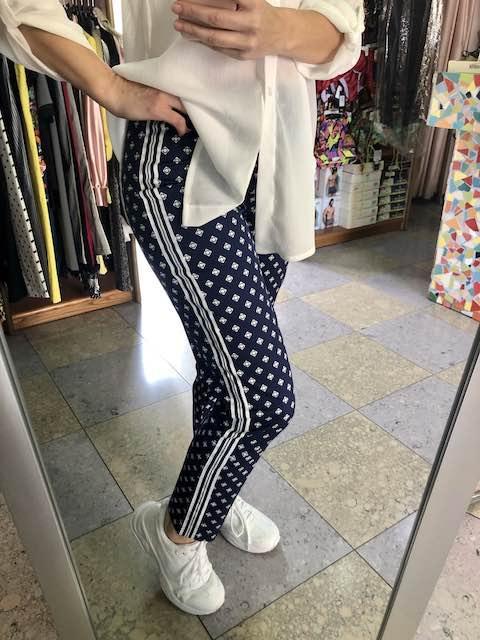 Pantalone stampato con bande Oroblu Taglia S
