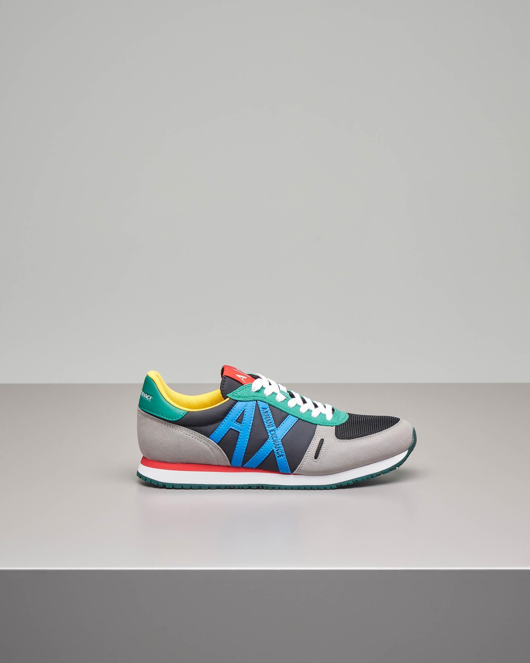 Sneakers multicolor con logo