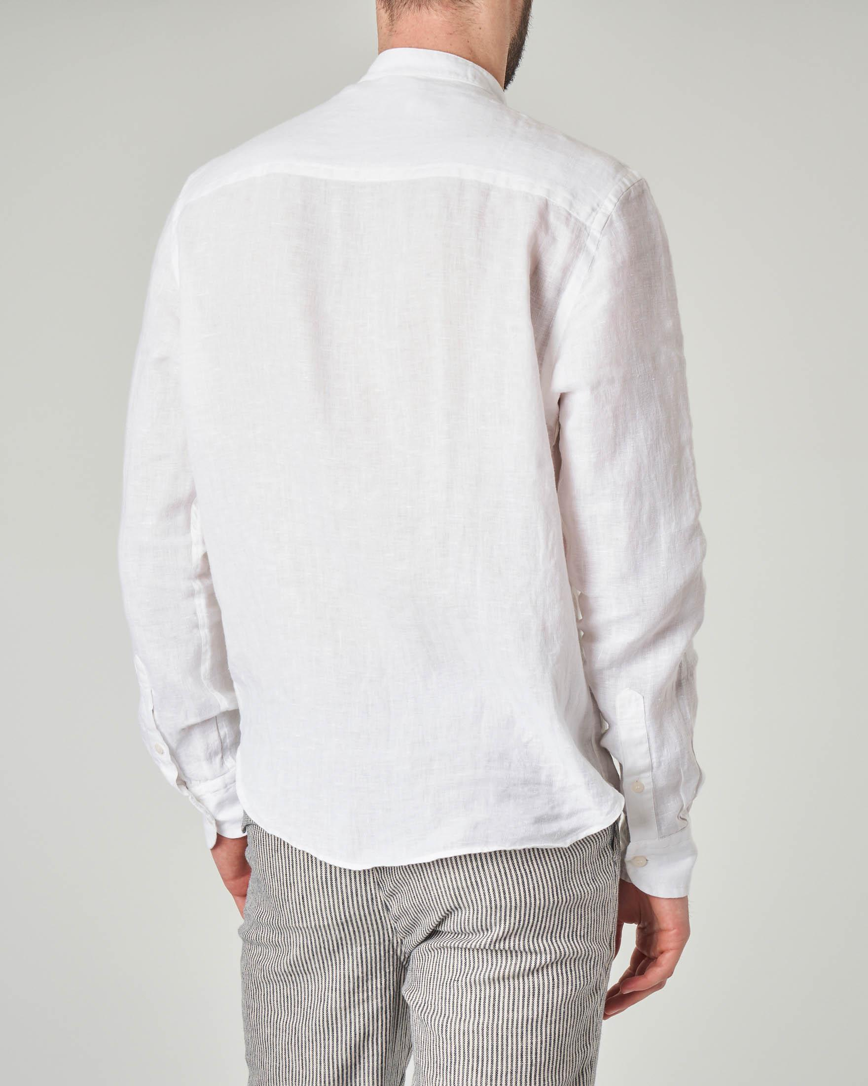 Camicia bianca coreana in lino