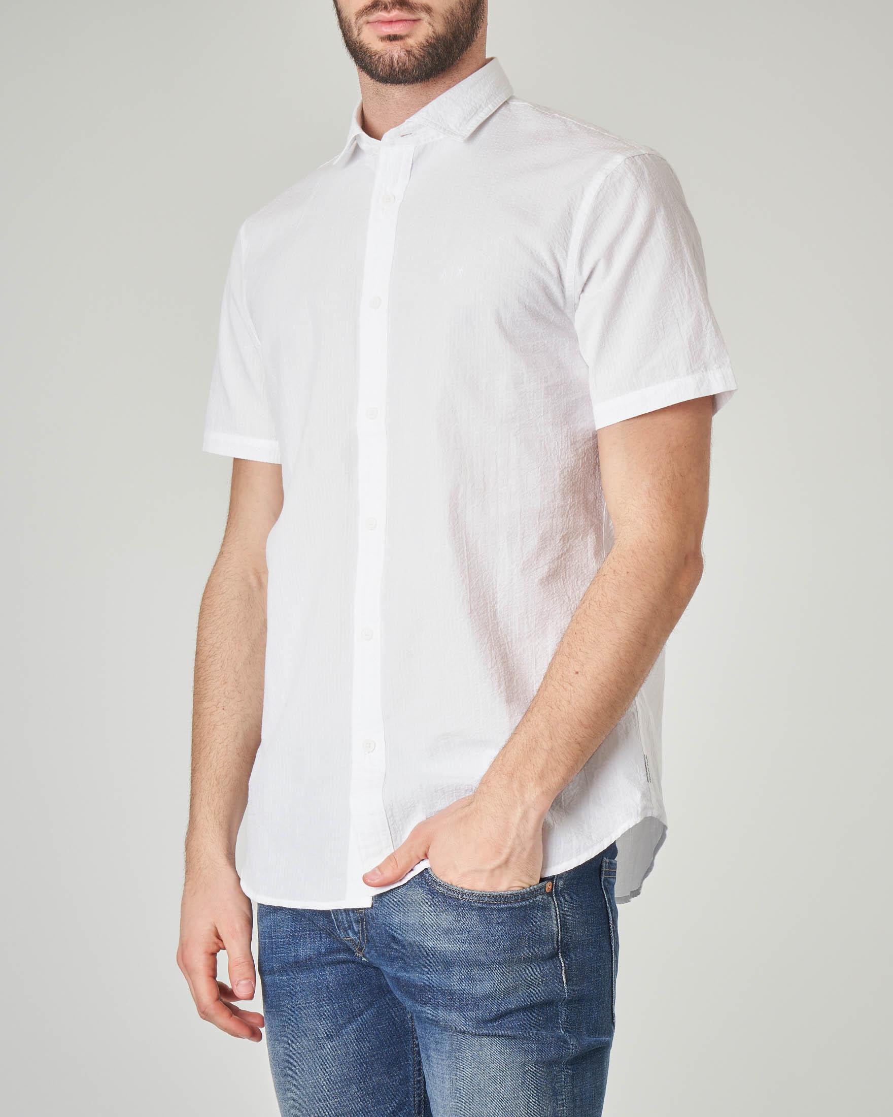 Camicia bianca mezza manica